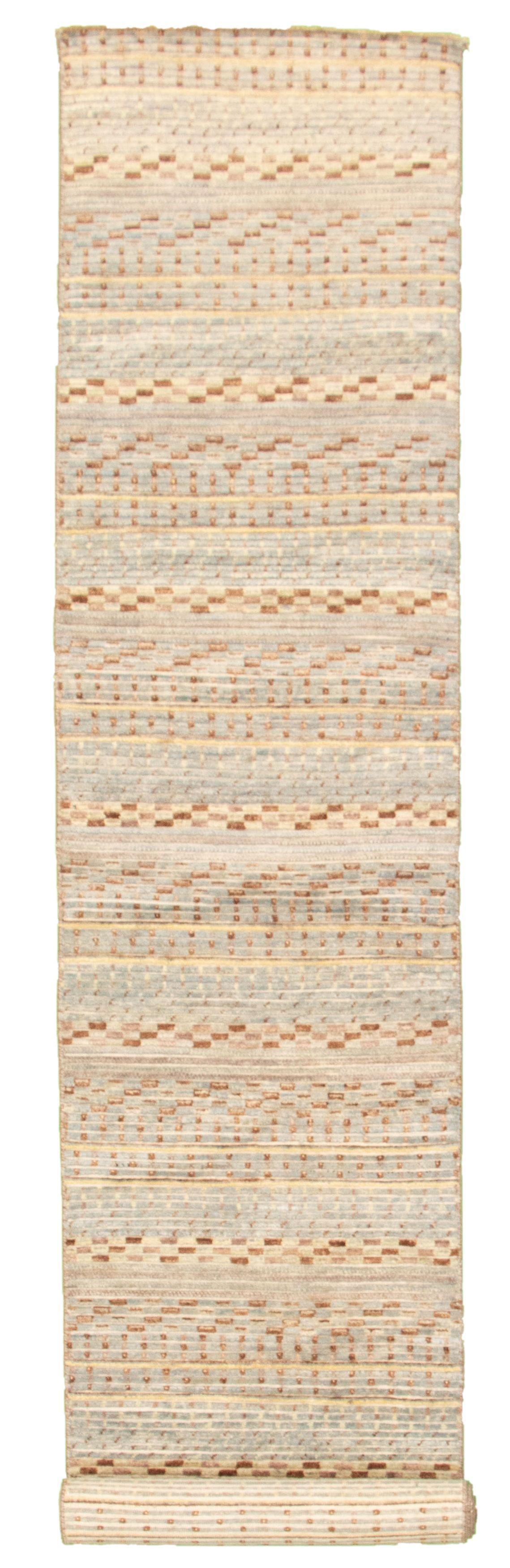 "Hand-knotted Peshawar Ziegler Light Blue  Wool Rug 2'7"" x 14'5"" Size: 2'7"" x 14'5"""