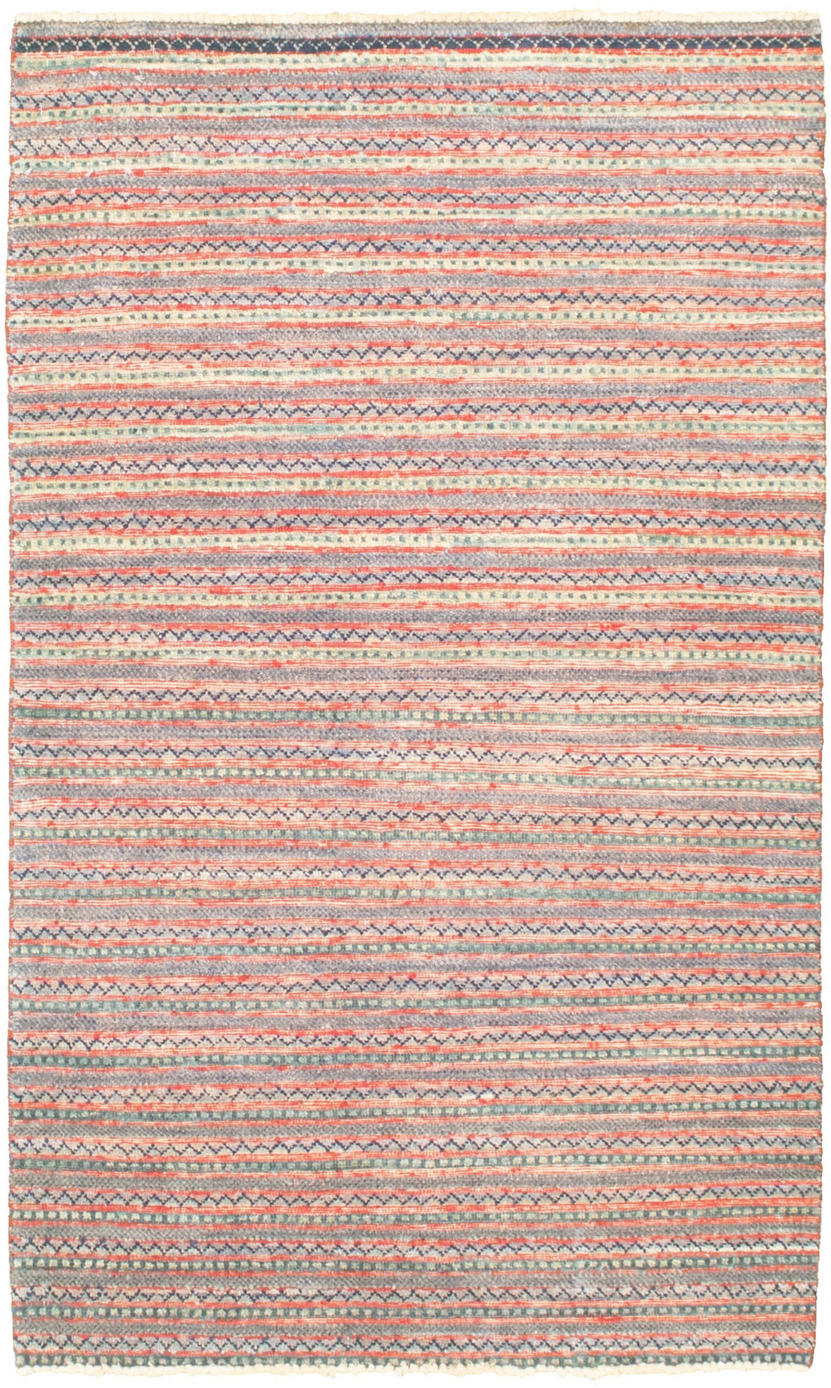 "Hand-knotted Peshawar Ziegler Slate Blue Wool Rug 3'1"" x 5'3"" Size: 3'1"" x 5'3"""