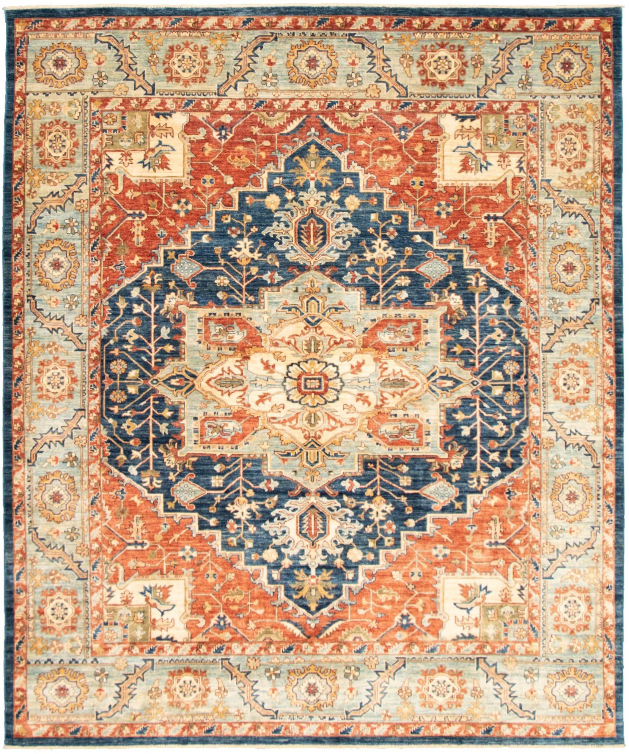 """Hand-knotted Pako Persian 18/20 Navy Blue  Rug 8'1"""" x 9'10"""" Size: 8'1"""" x 9'10"""""""