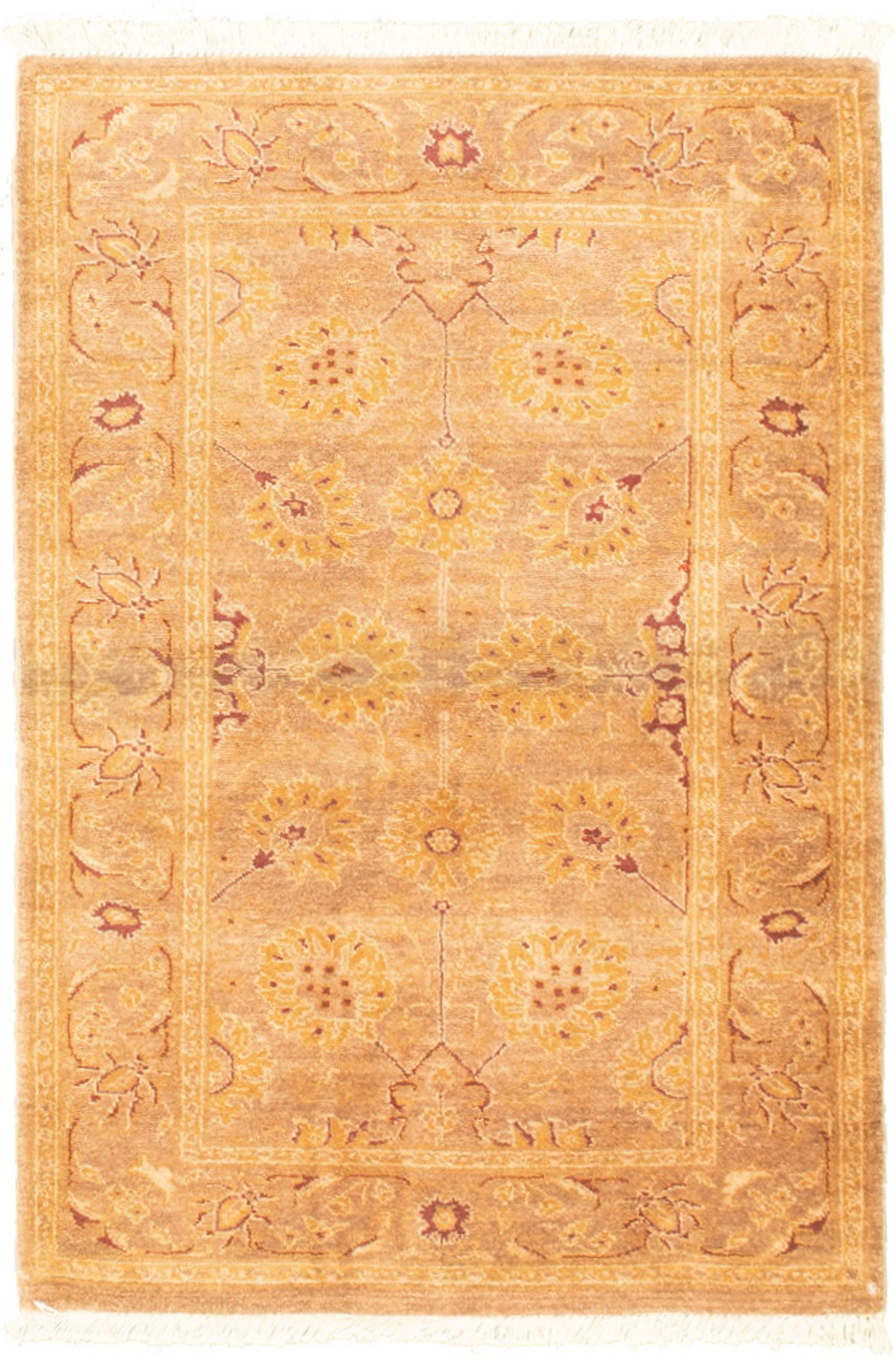 "Hand-knotted Peshawar Ziegler Brown Wool Rug 3'2"" x 4'10"" Size: 3'2"" x 4'10"""