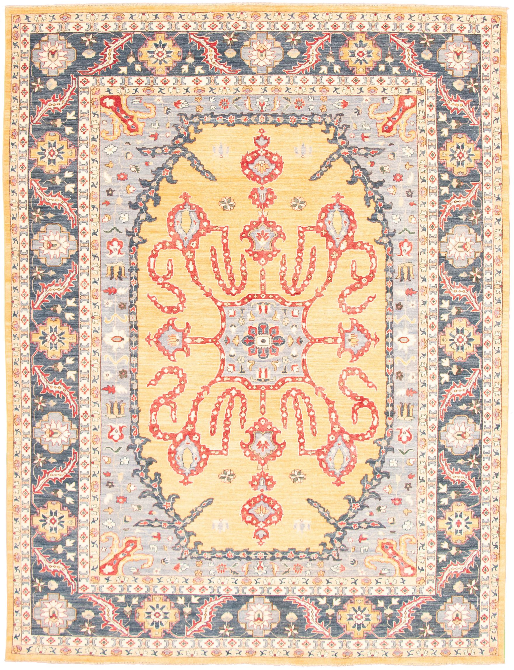"""Hand-knotted Pako Persian 18/20 Light Blue , Light Gold  Rug 9'1"""" x 12'0"""" Size: 9'1"""" x 12'0"""""""