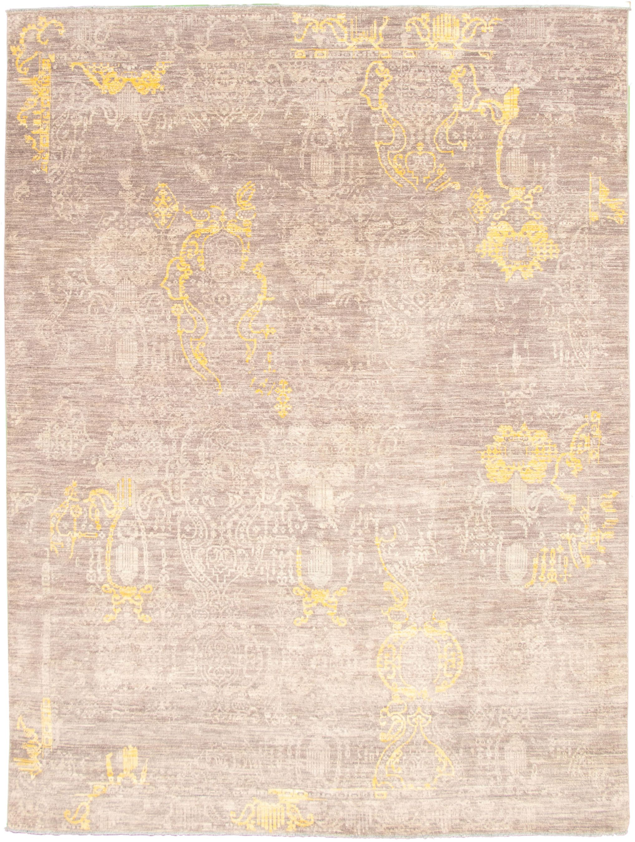 """Hand-knotted Signature Collection Grey  Rug 9'1"""" x 12'0"""" Size: 9'1"""" x 12'0"""""""