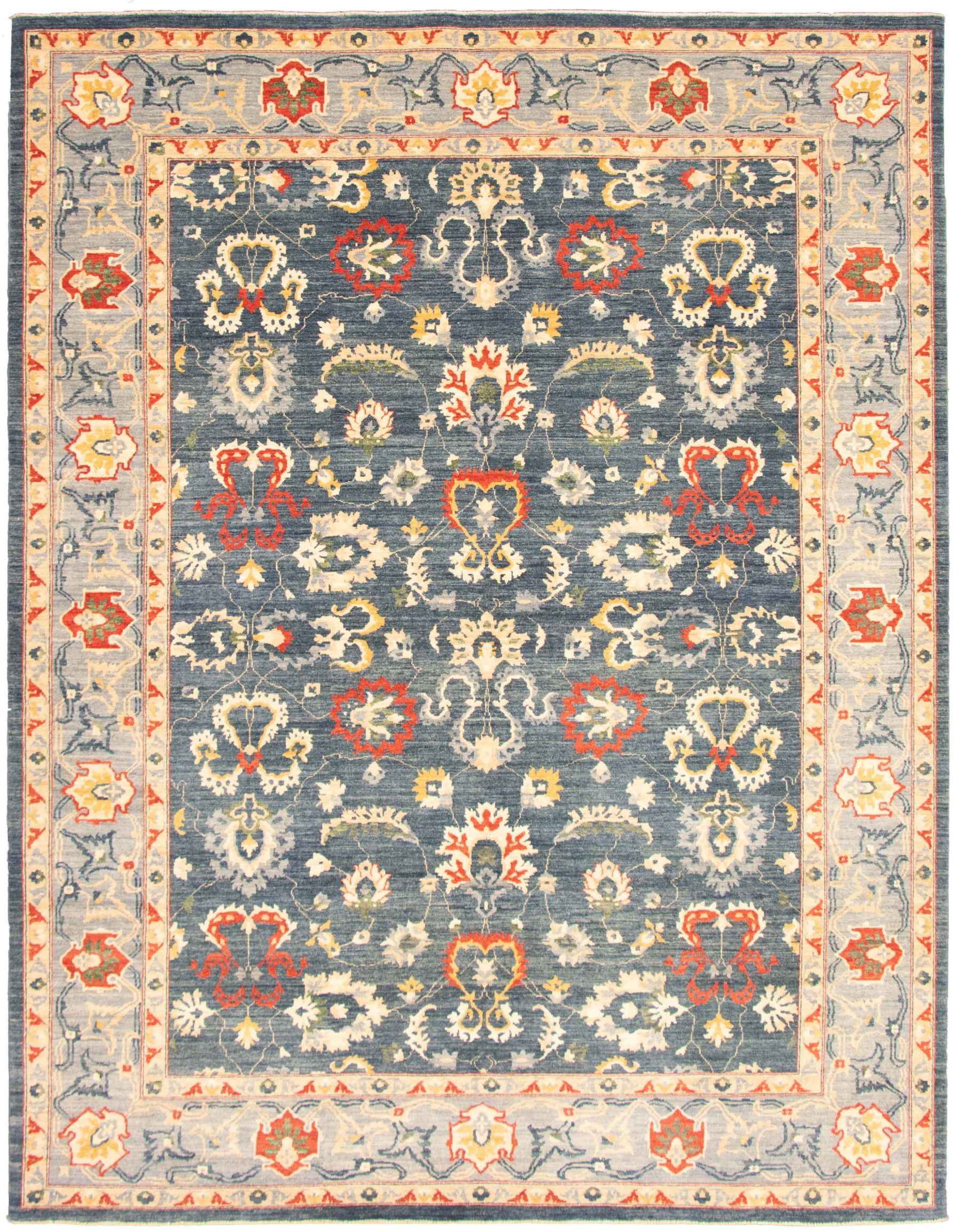 """Hand-knotted Pako Persian 18/20 Navy Blue  Rug 9'1"""" x 11'11"""" Size: 9'1"""" x 11'11"""""""