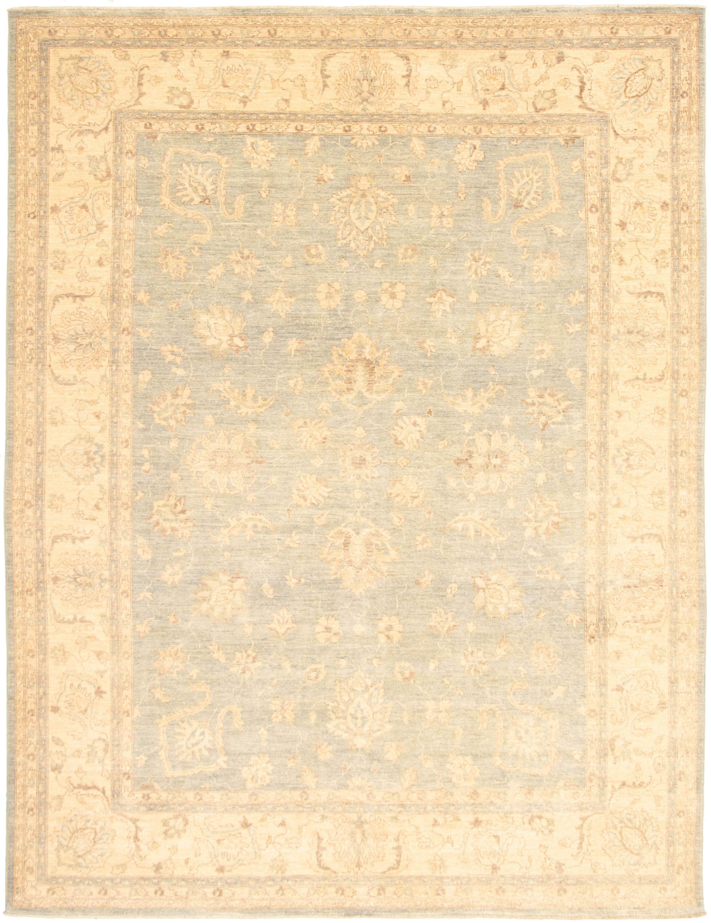 """Hand-knotted Peshawar Oushak Light Blue   Rug 8'10"""" x 11'6"""" Size: 8'10"""" x 11'6"""""""