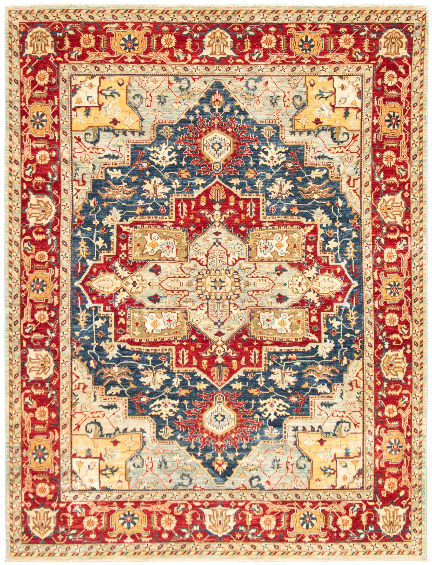 """Hand-knotted Pako Persian 18/20 Dark Blue  Rug 8'11"""" x 11'9"""" Size: 8'11"""" x 11'9"""""""