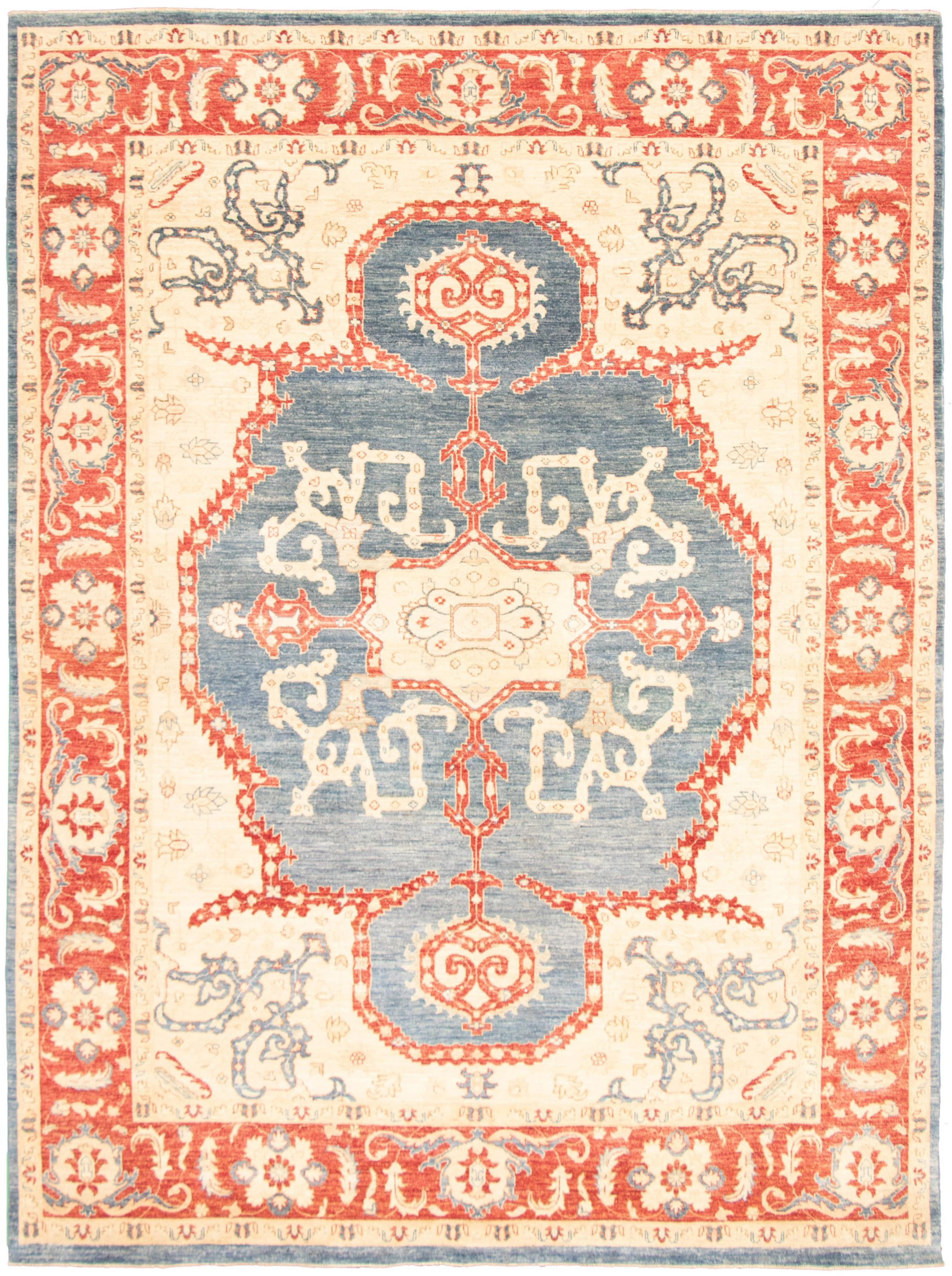 """Hand-knotted Pako Persian 18/20 Blue, Ivory  Rug 9'2"""" x 12'3"""" Size: 9'2"""" x 12'3"""""""