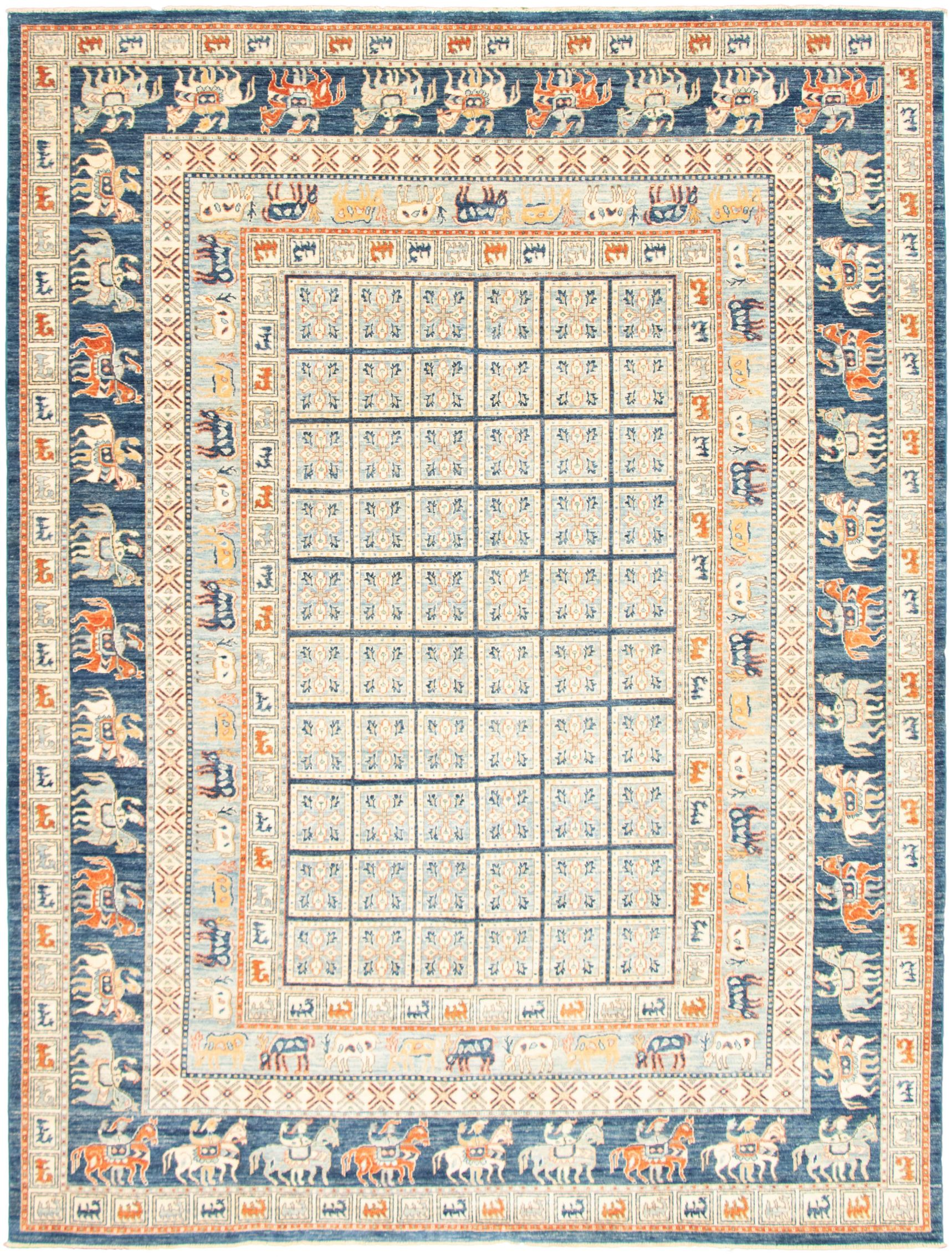 """Hand-knotted Aryana Light Blue   Rug 9'0"""" x 12'0"""" Size: 9'0"""" x 12'0"""""""