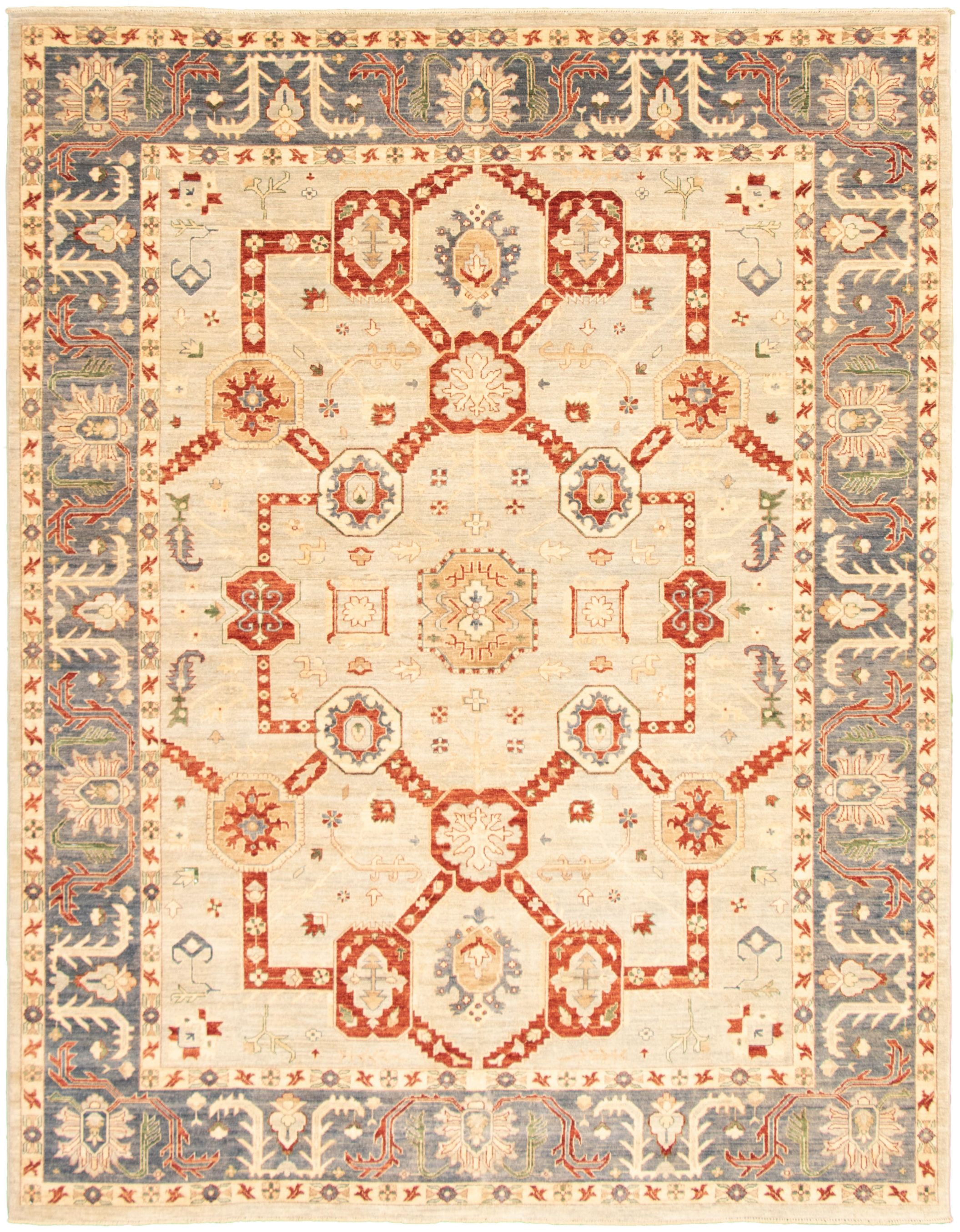 """Hand-knotted Pako Persian 18/20 Light Grey  Rug 8'11"""" x 11'5"""" Size: 8'11"""" x 11'5"""""""