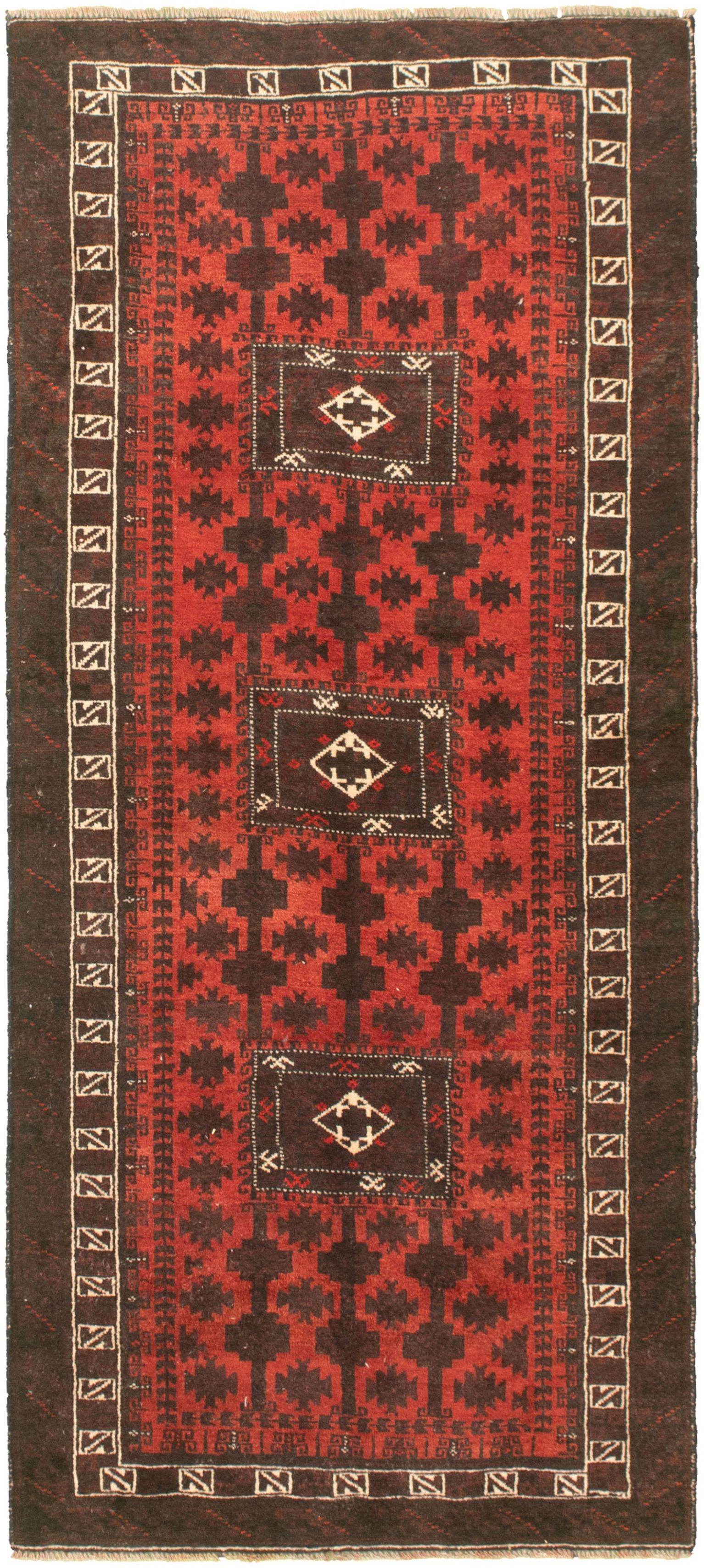 """Hand-knotted Authentic Turkish Dark Copper Wool Rug 3'1"""" x 7'3"""" Size: 3'1"""" x 7'3"""""""