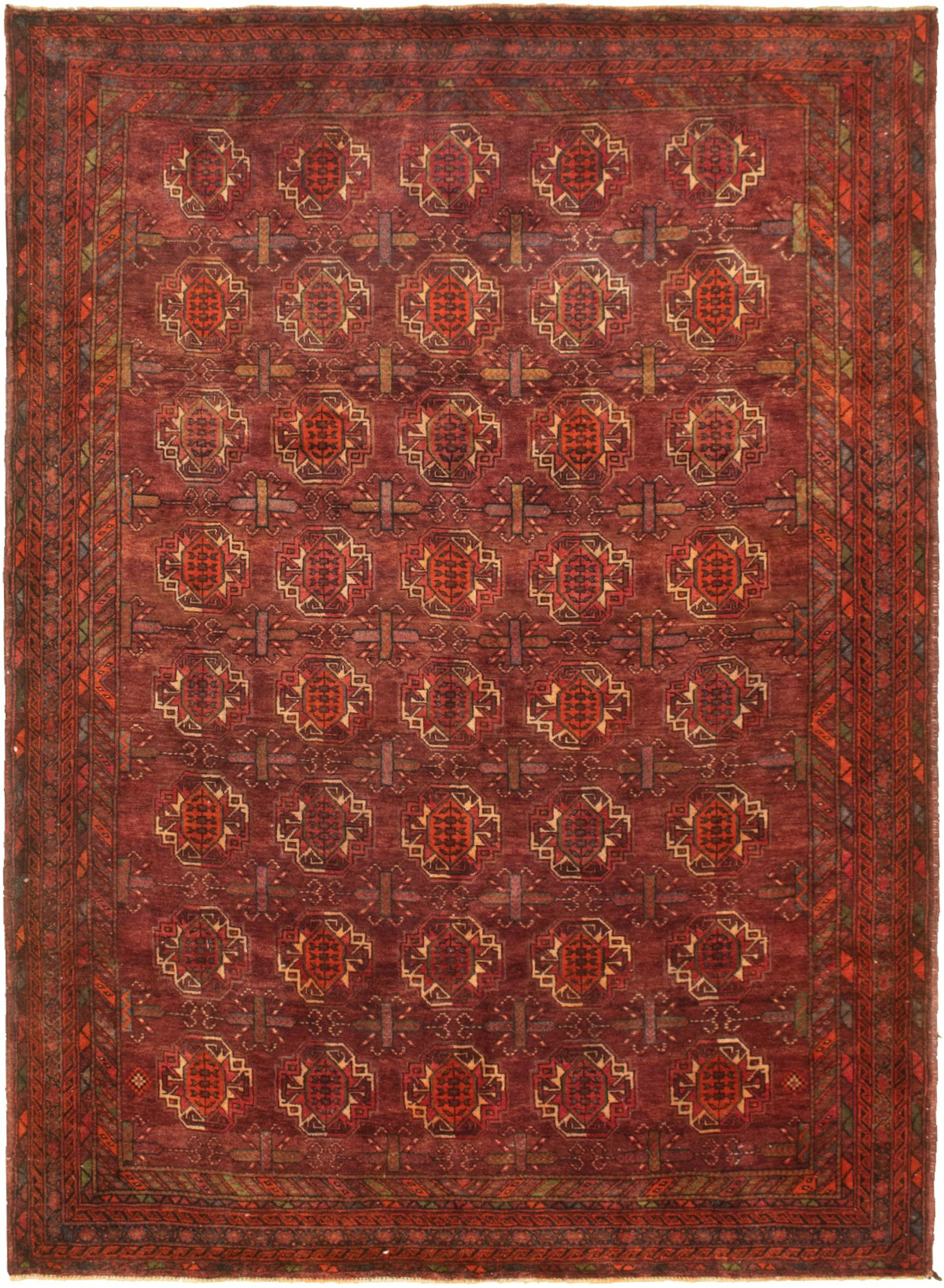 """Hand-knotted Authentic Turkish Dark Brown Wool Rug 6'9"""" x 9'6"""" Size: 6'9"""" x 9'6"""""""