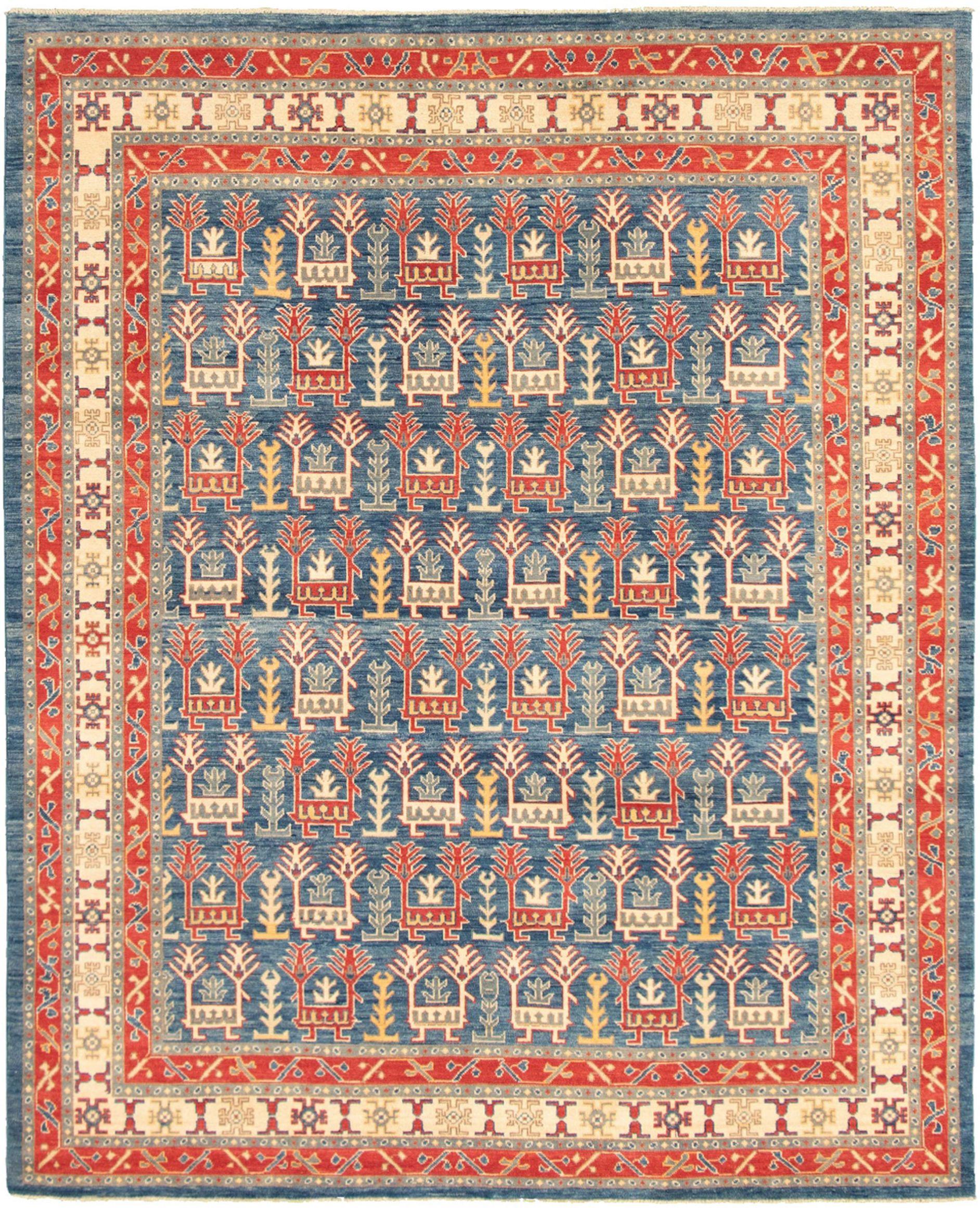 """Hand-knotted Peshawar Oushak Dark Blue  Rug 7'11"""" x 9'8"""" Size: 7'11"""" x 9'8"""""""