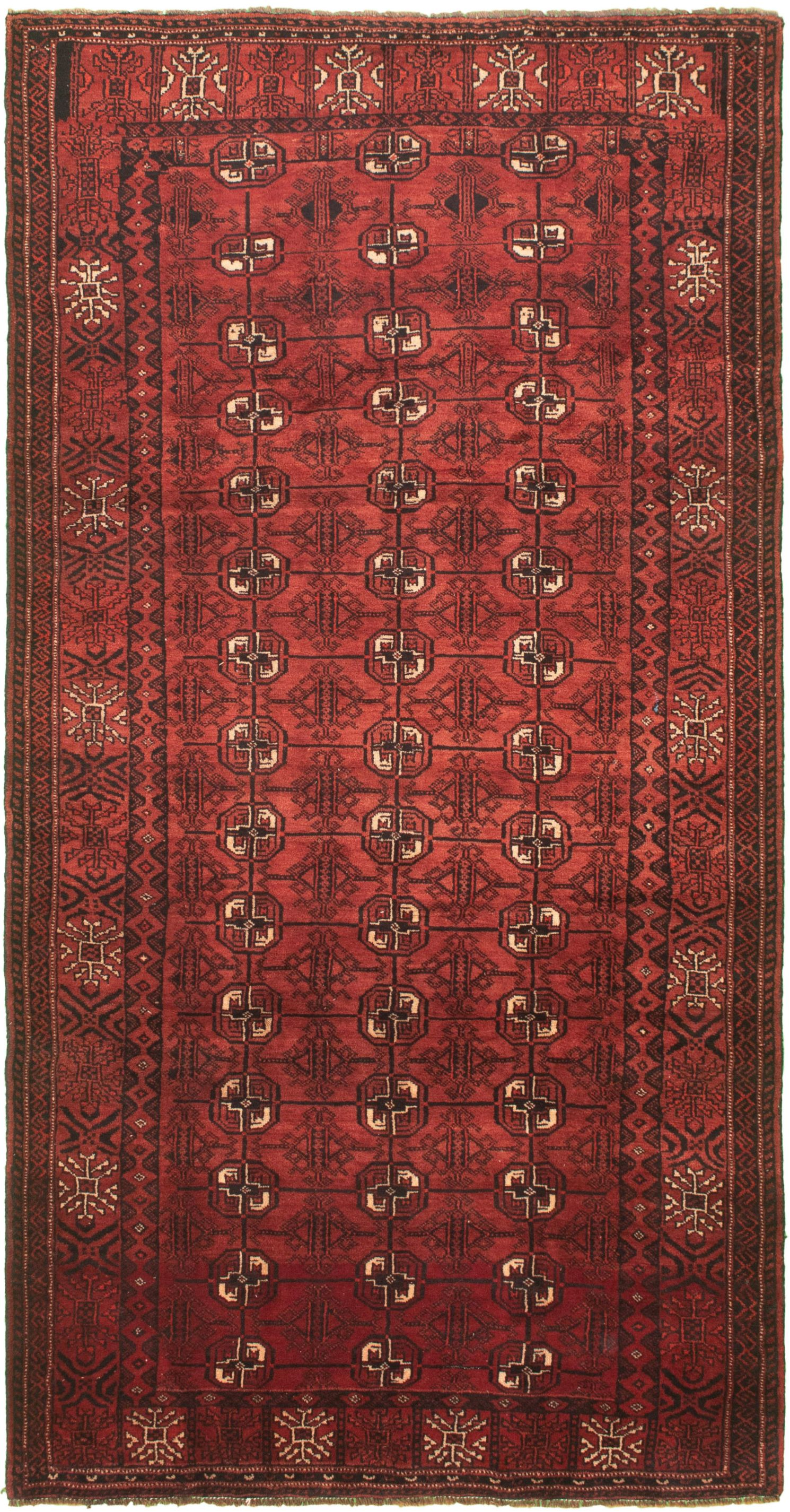 "Hand-knotted Authentic Turkish Dark Copper Wool Rug 4'8"" x 9'5"" Size: 4'8"" x 9'5"""