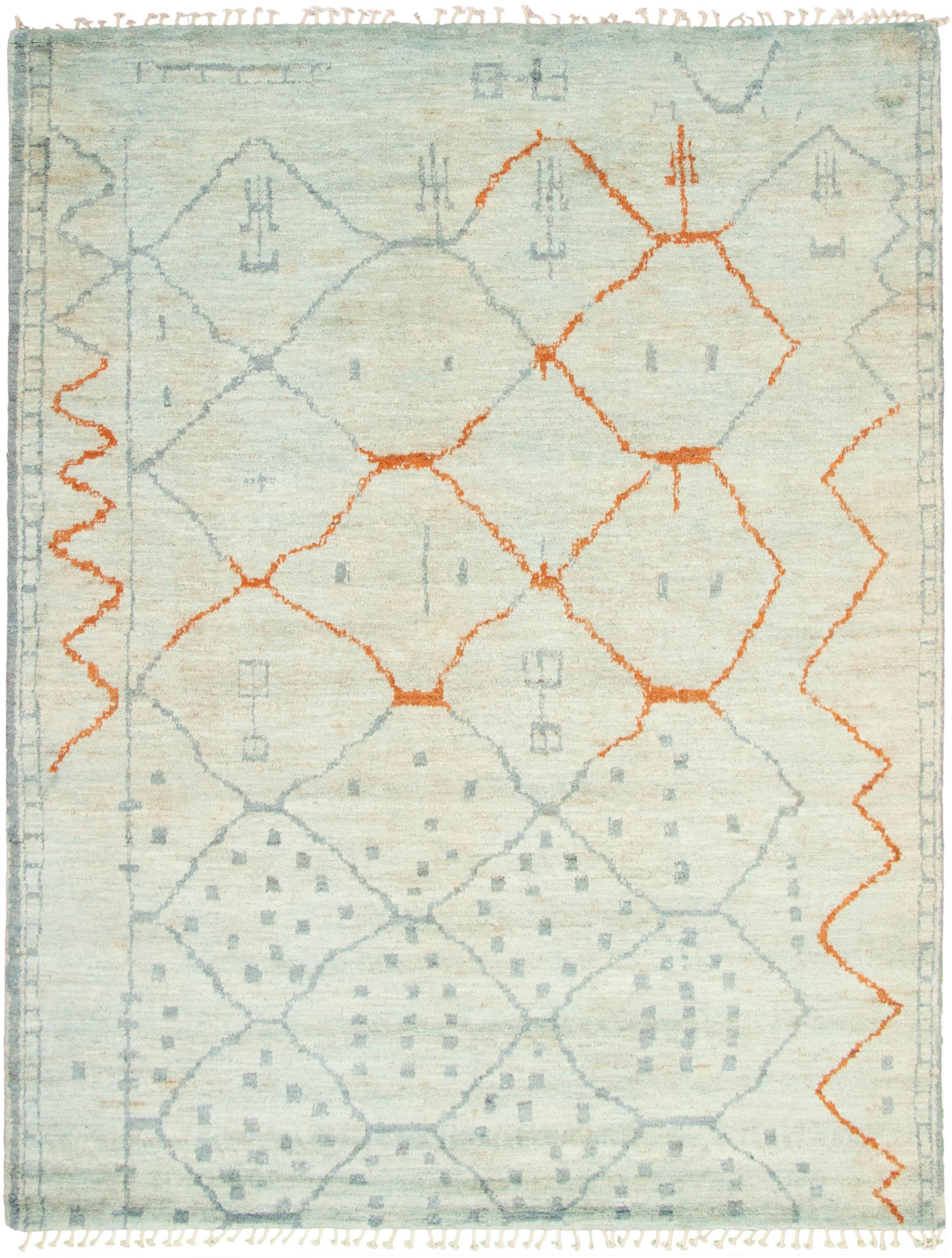 "Hand-knotted Marrakech Light Blue   Rug 9'3"" x 12'0"" Size: 9'3"" x 12'0"""