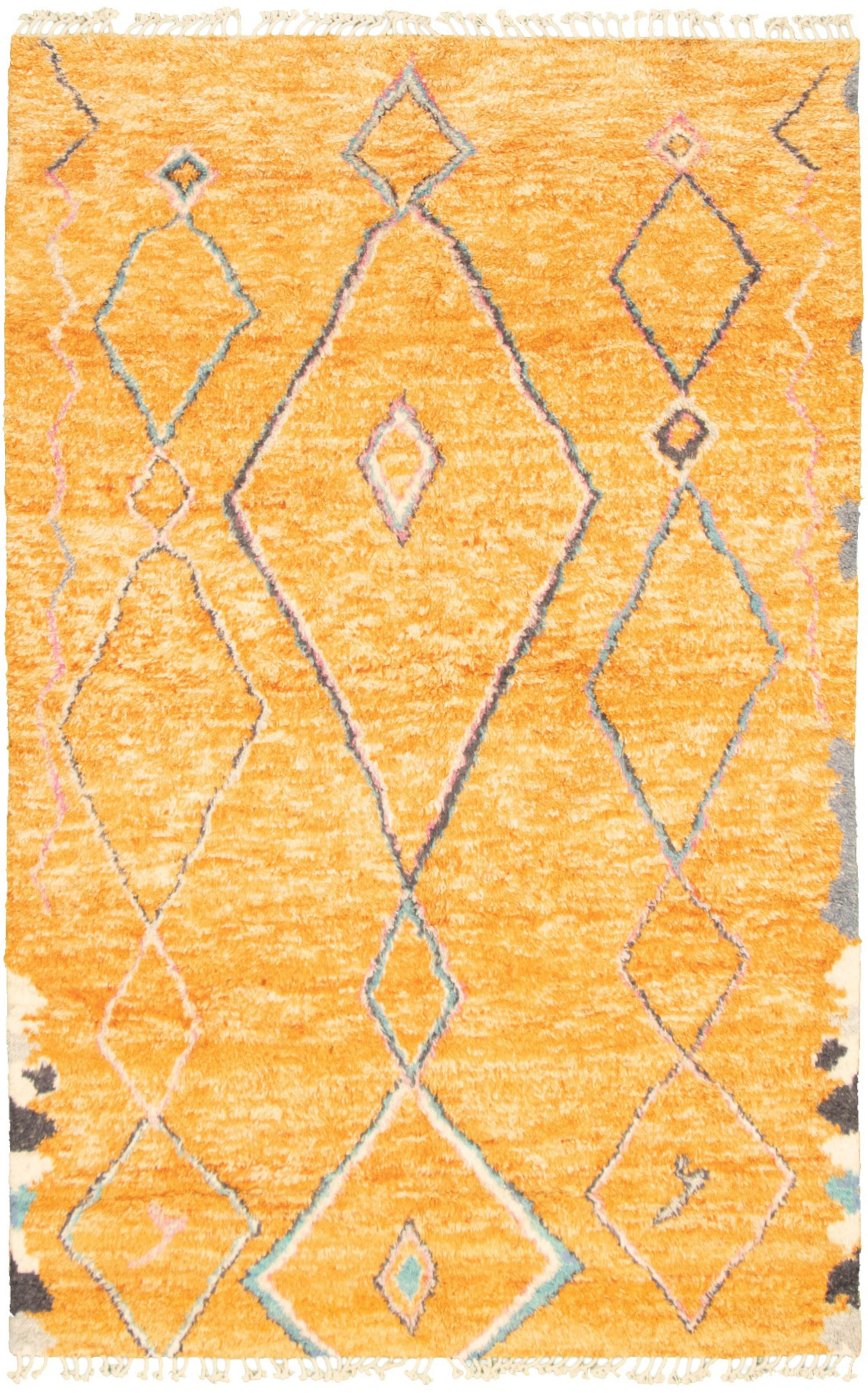 """Hand-knotted Marrakech Orange  Rug 6'0"""" x 9'3"""" Size: 6'0"""" x 9'3"""""""