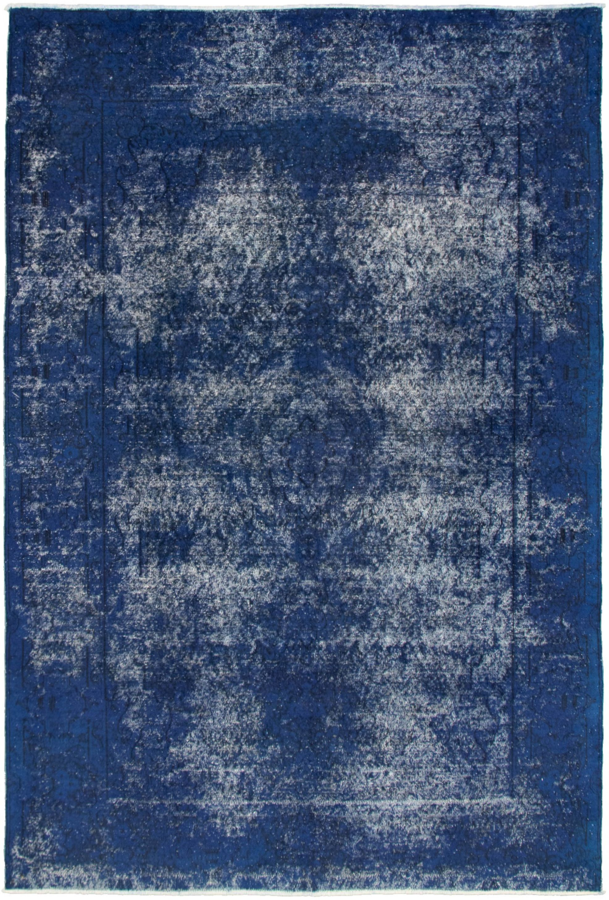 """Hand-knotted Pako Vintage Blue  Rug 6'4"""" x 9'7"""" Size: 6'4"""" x 9'7"""""""