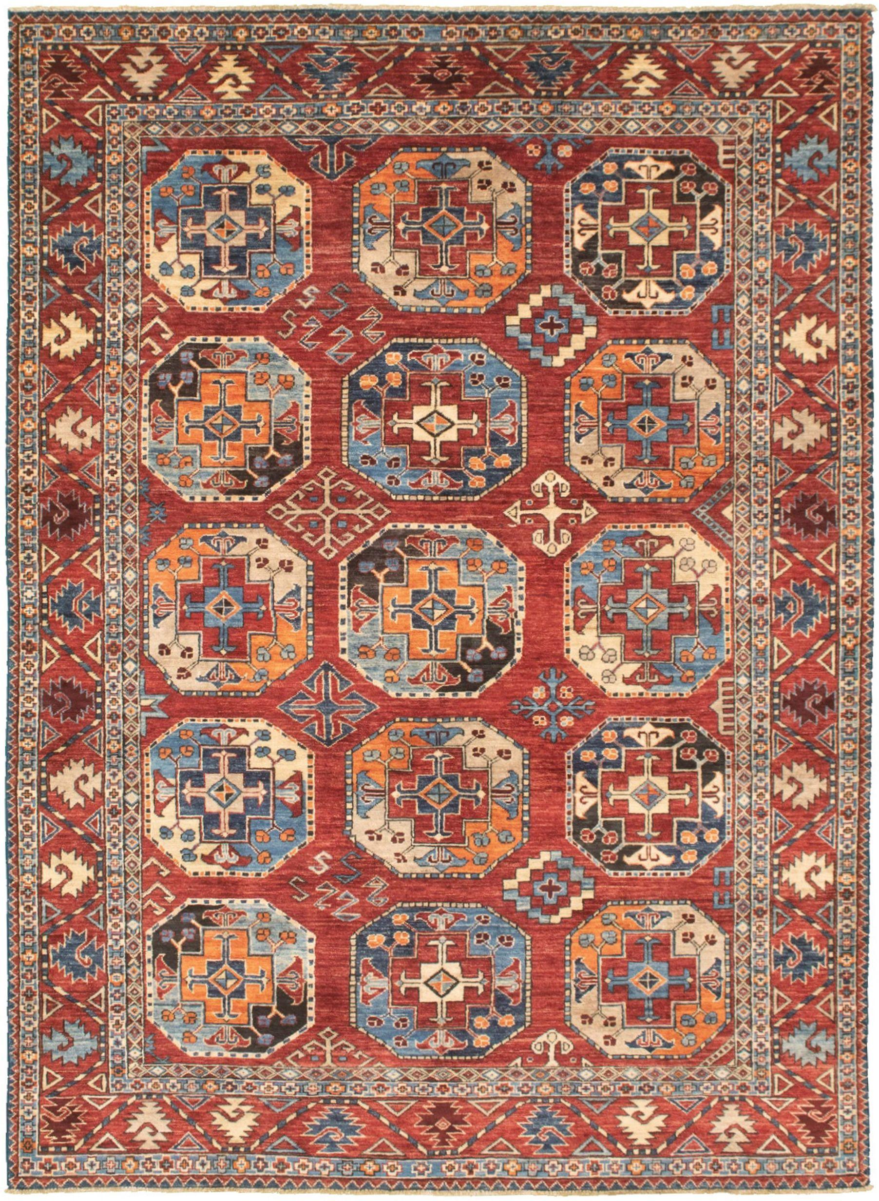 """Hand-knotted Finest Peshawar Ziegler Dark Red  Rug 6'1"""" x 8'6"""" Size: 6'1"""" x 8'6"""""""