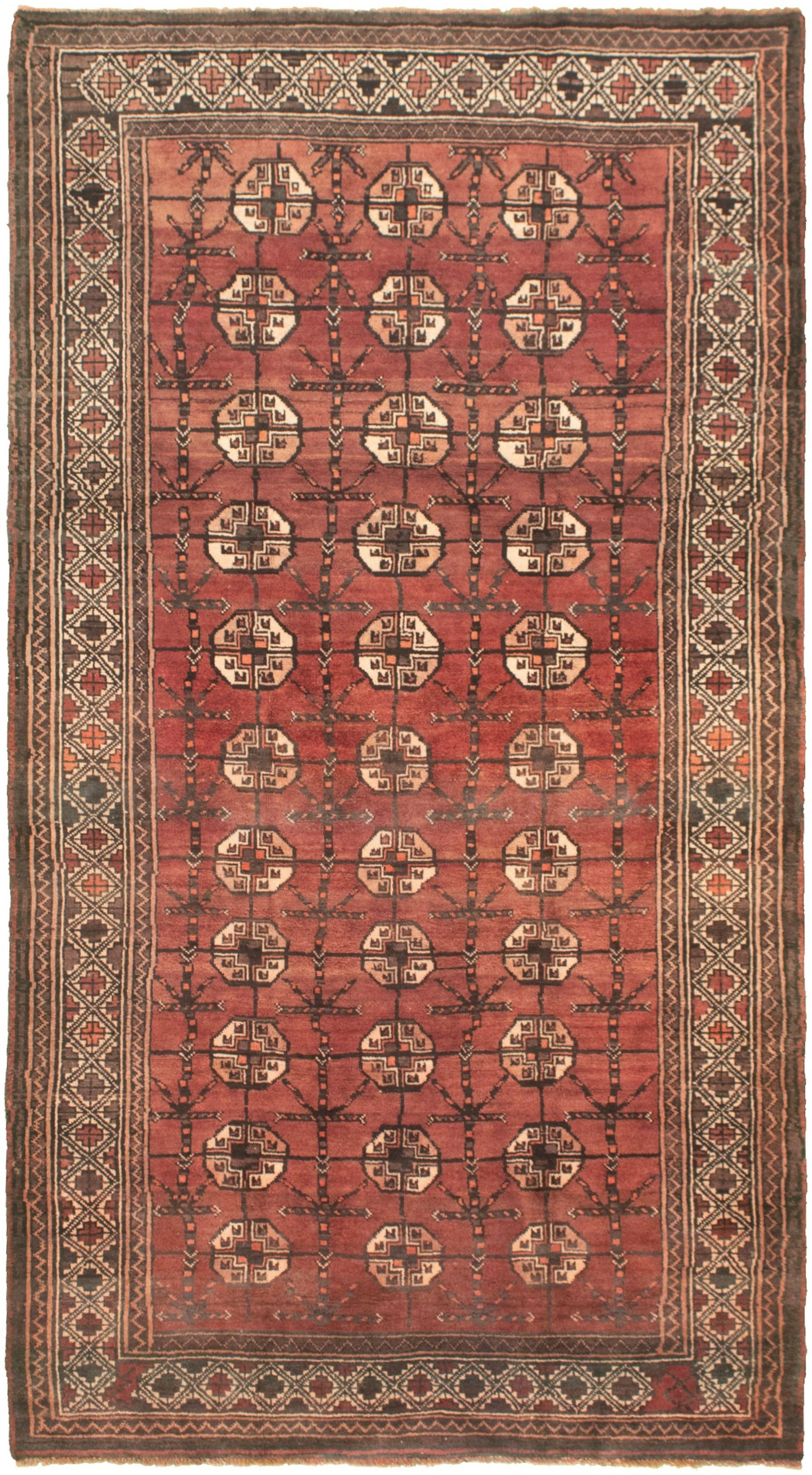 """Hand-knotted Shiravan Bokhara Copper Wool Rug 4'9"""" x 8'9"""" Size: 4'9"""" x 8'9"""""""