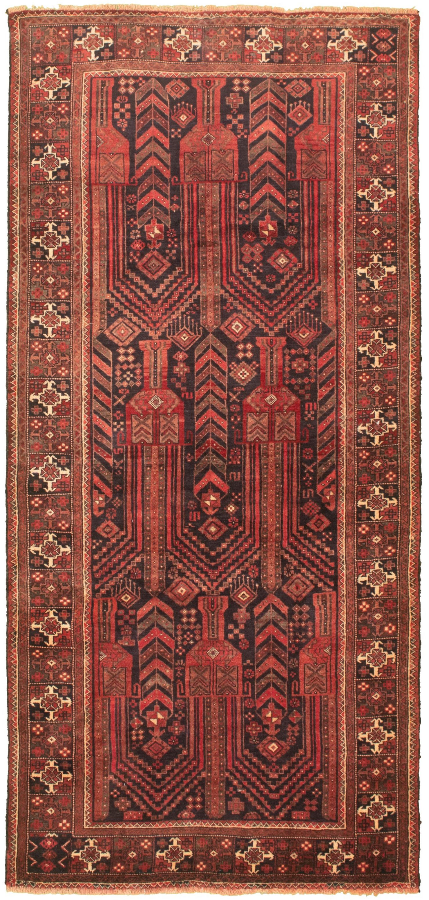 """Hand-knotted Authentic Turkish Black Wool Rug 4'1"""" x 9'0"""" Size: 4'1"""" x 9'0"""""""
