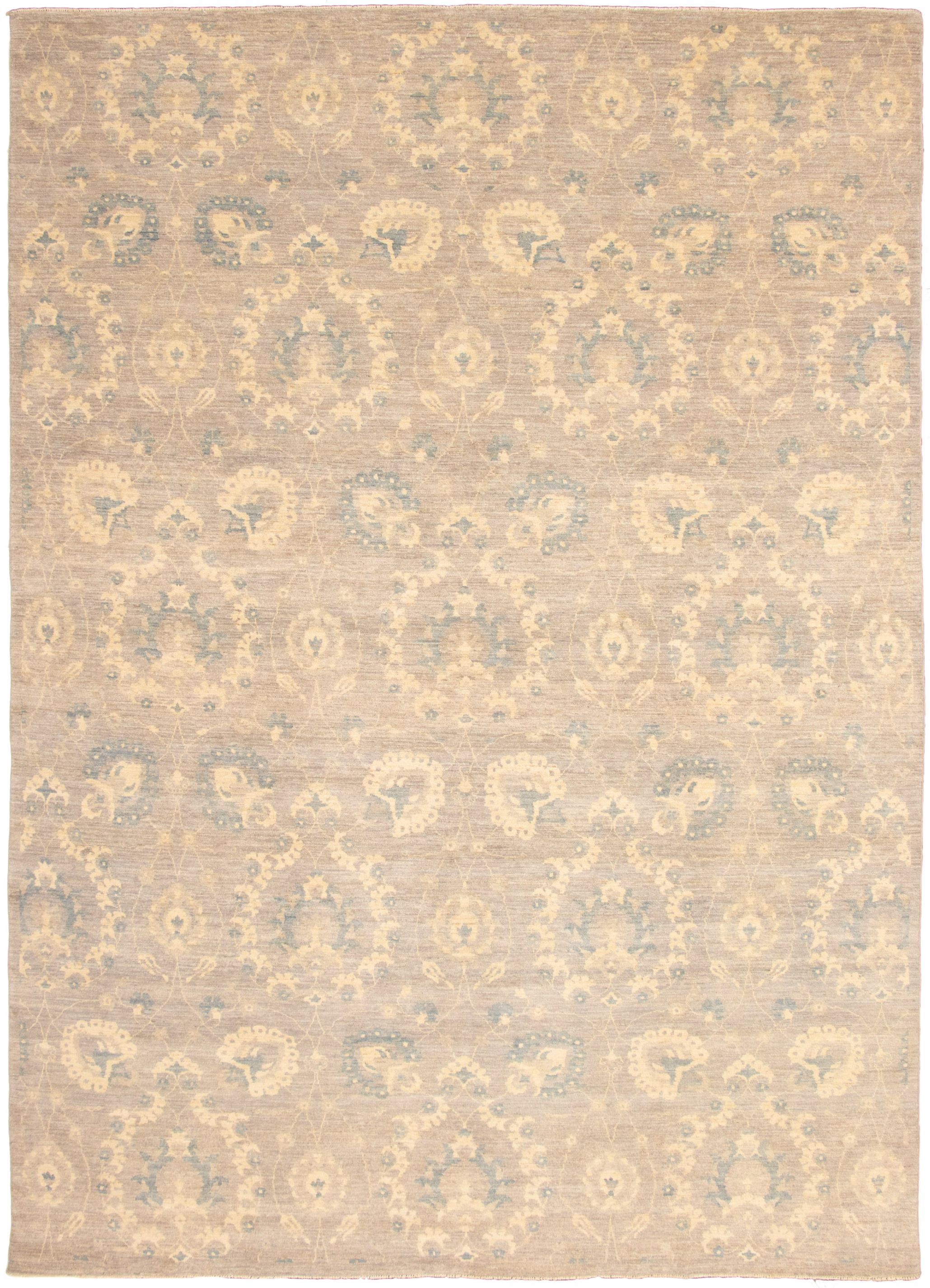"""Hand-knotted Signature Collection Grey  Rug 9'10"""" x 13'11"""" Size: 9'10"""" x 13'11"""""""