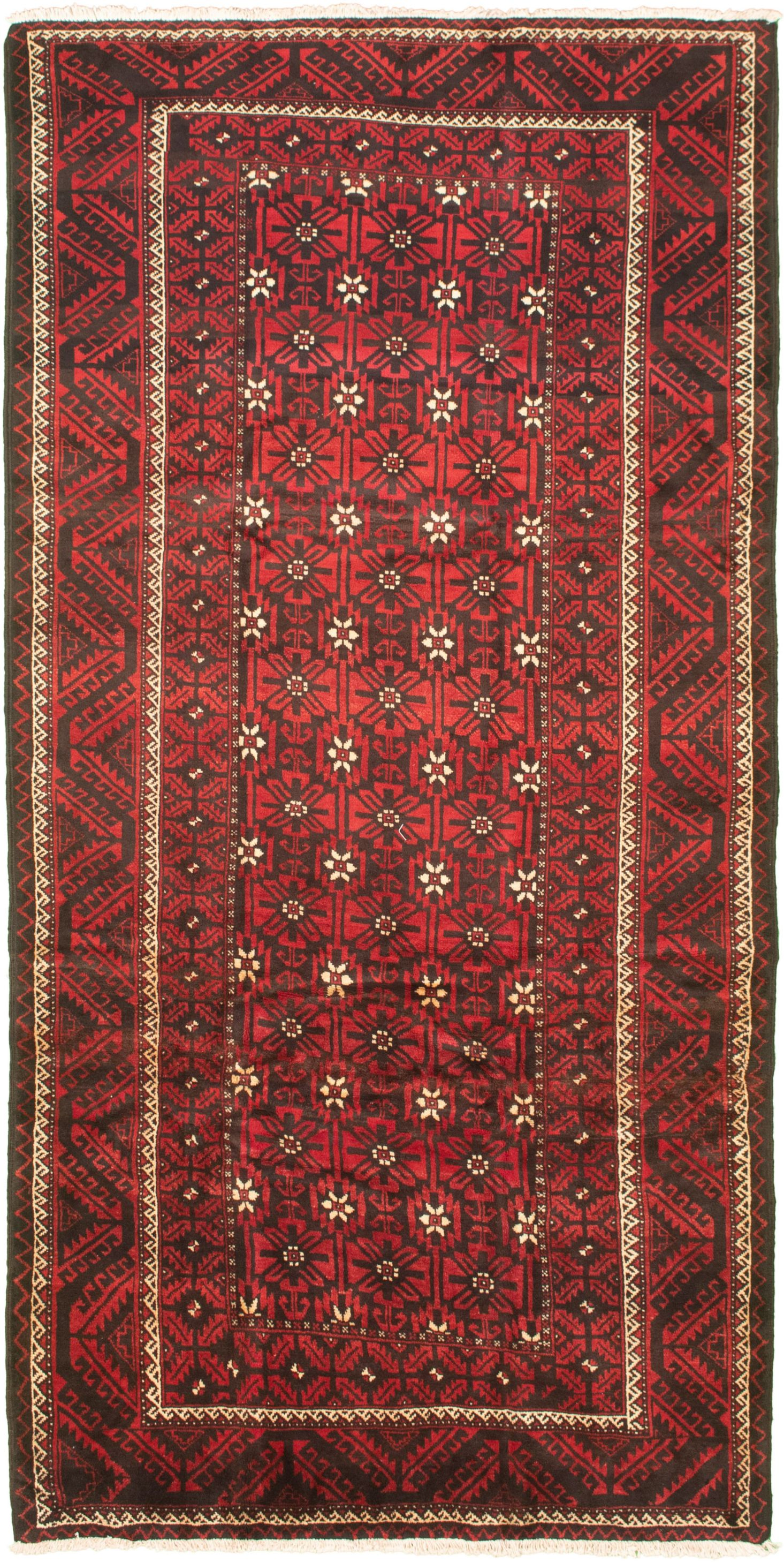 """Hand-knotted Authentic Turkish Red Wool Rug 4'10"""" x 10'0"""" Size: 4'10"""" x 10'0"""""""