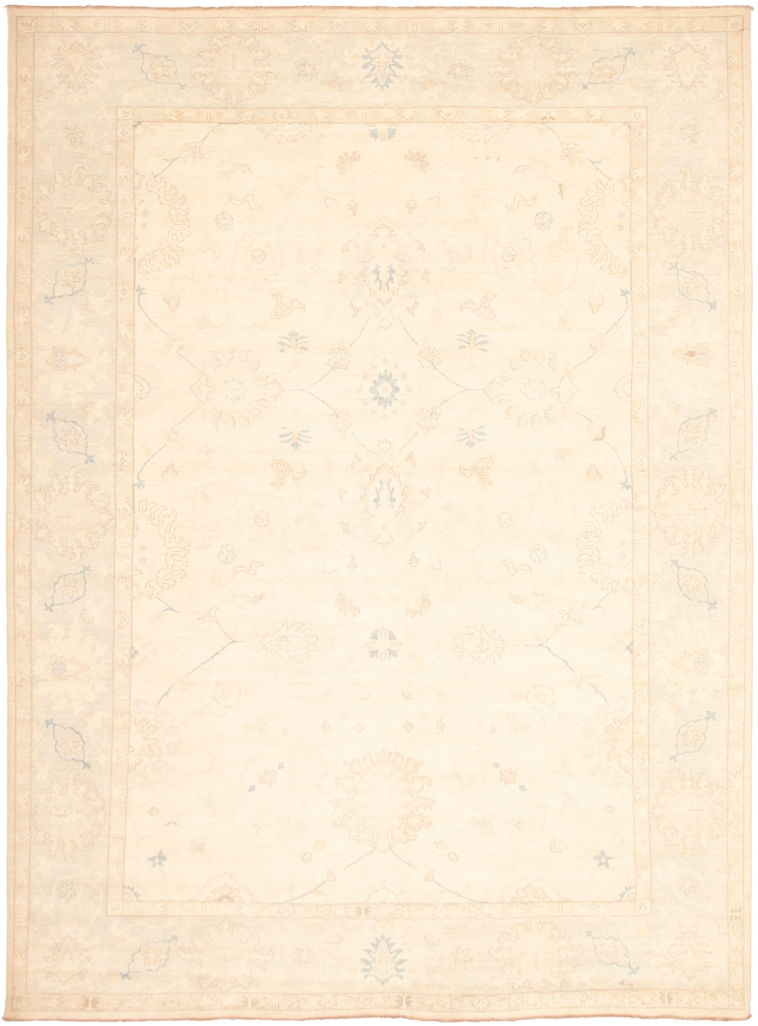 """Hand-knotted Peshawar Oushak Ivory  Rug 10'1"""" x 13'9"""" Size: 10'1"""" x 13'9"""""""