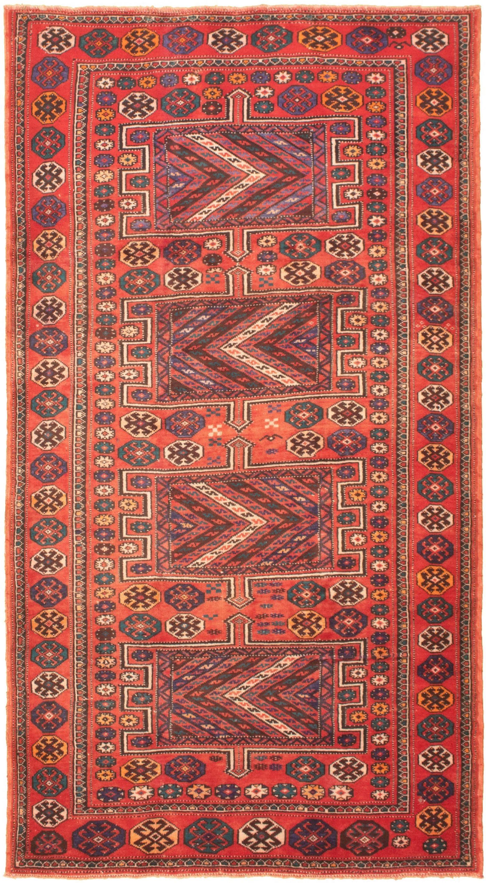 "Hand-knotted Authentic Turkish Dark Copper Wool Rug 5'0"" x 9'6"" Size: 5'0"" x 9'6"""