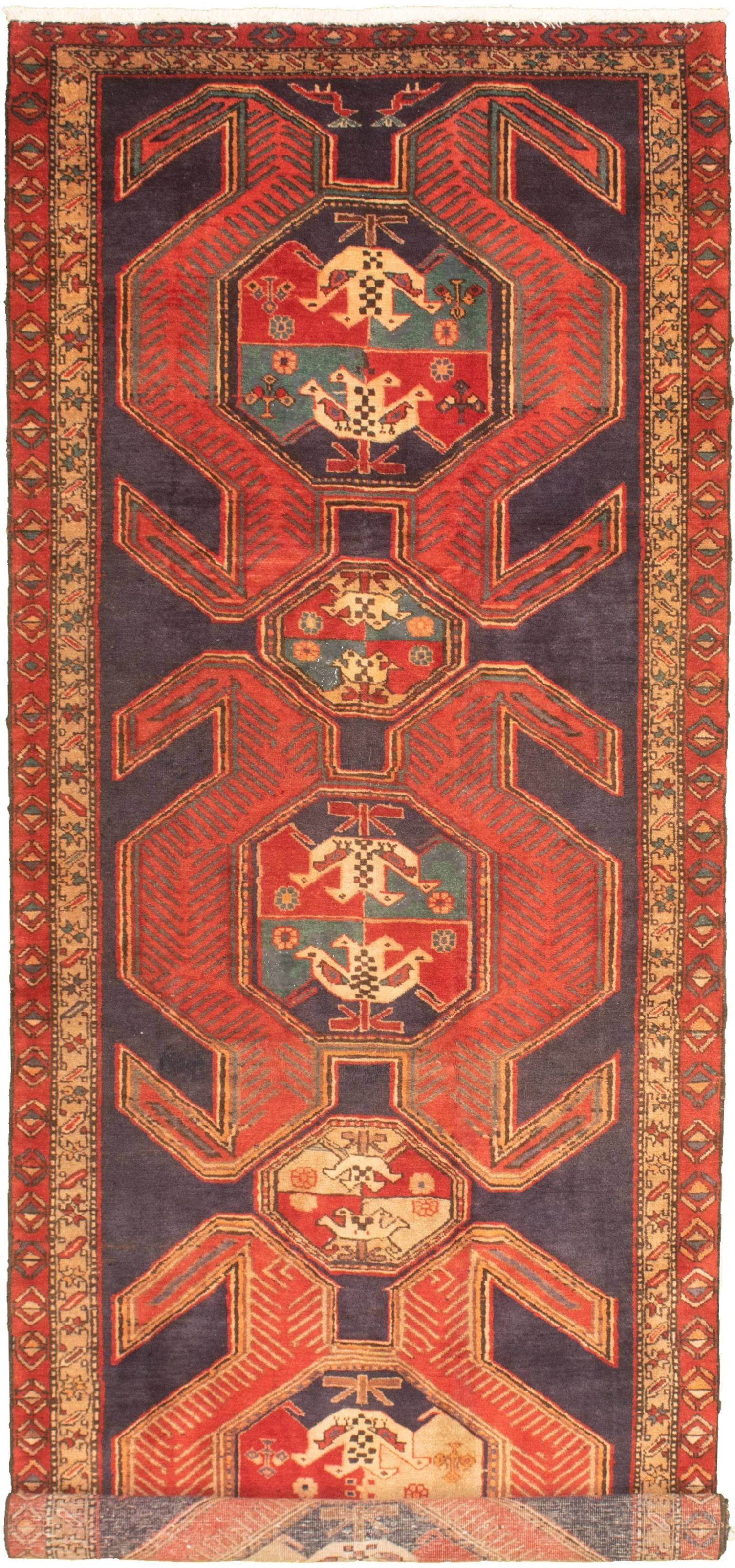 """Hand-knotted Authentic Turkish Navy Blue Wool Rug 4'0"""" x 11'1"""" Size: 4'0"""" x 11'1"""""""