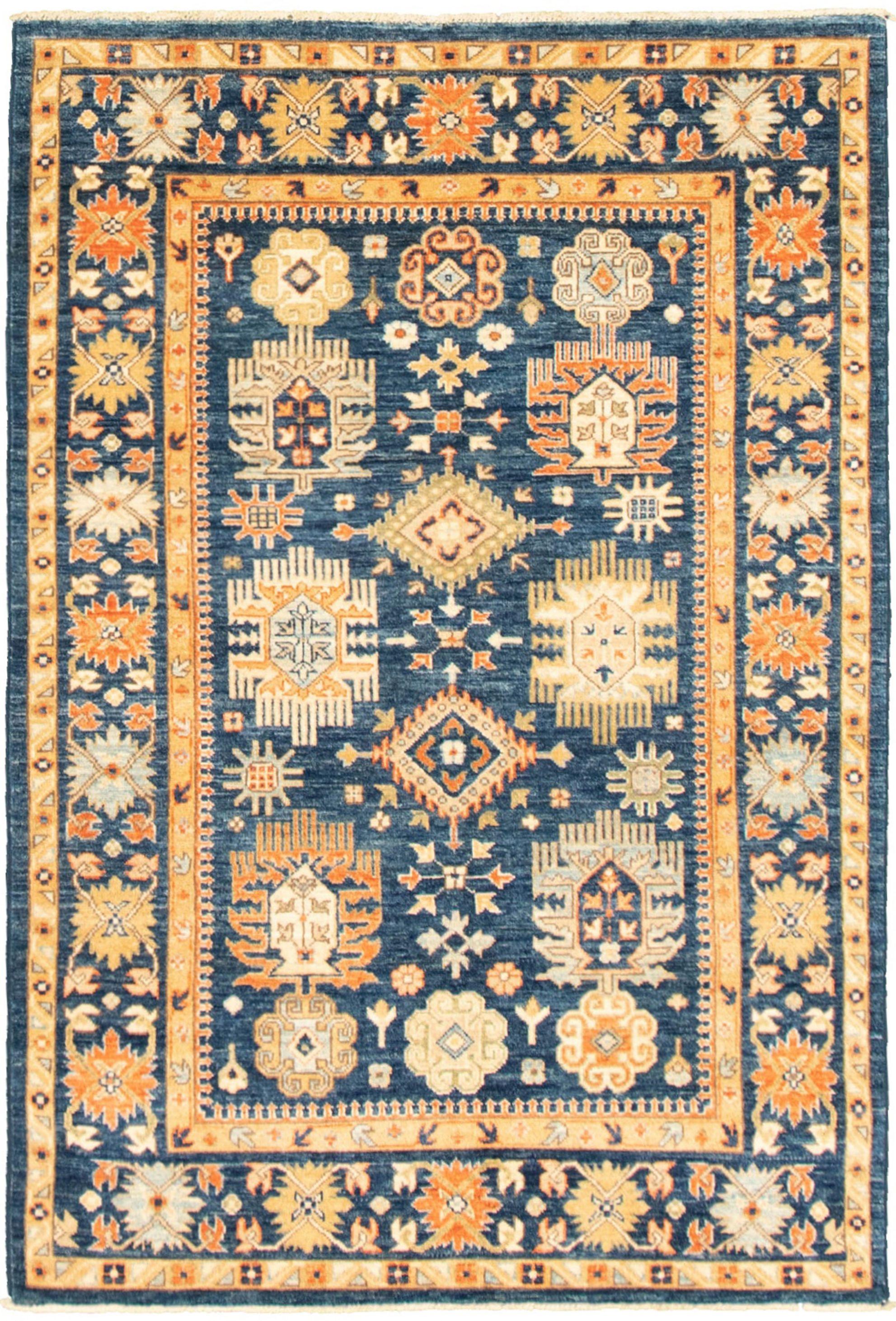 "Hand-knotted Finest Peshawar Ziegler Blue  Rug 3'10"" x 5'9"" Size: 3'10"" x 5'9"""