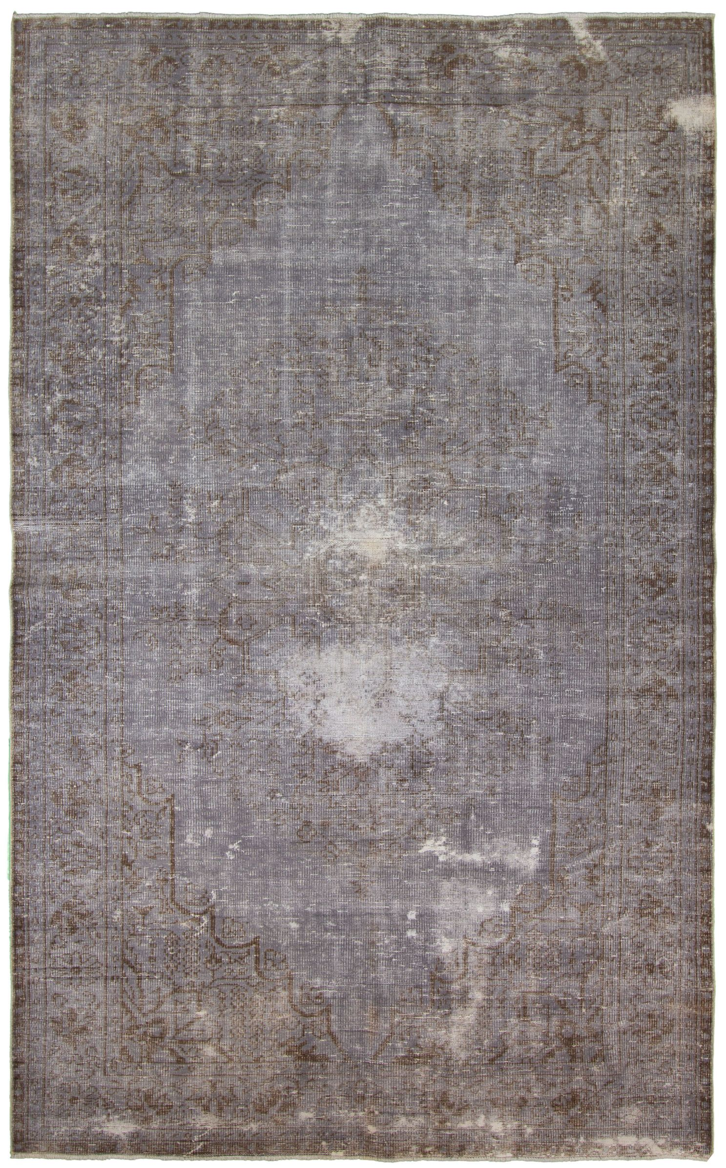 """Hand-knotted Antalya Vintage Blue, Purple Wool Rug 3'3"""" x 10'6"""" Size: 3'3"""" x 10'6"""""""