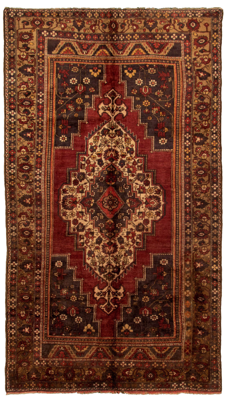 """Hand-knotted Anadol Vintage Dark Red Wool Rug 6'5"""" x 11'7"""" Size: 6'5"""" x 11'7"""""""
