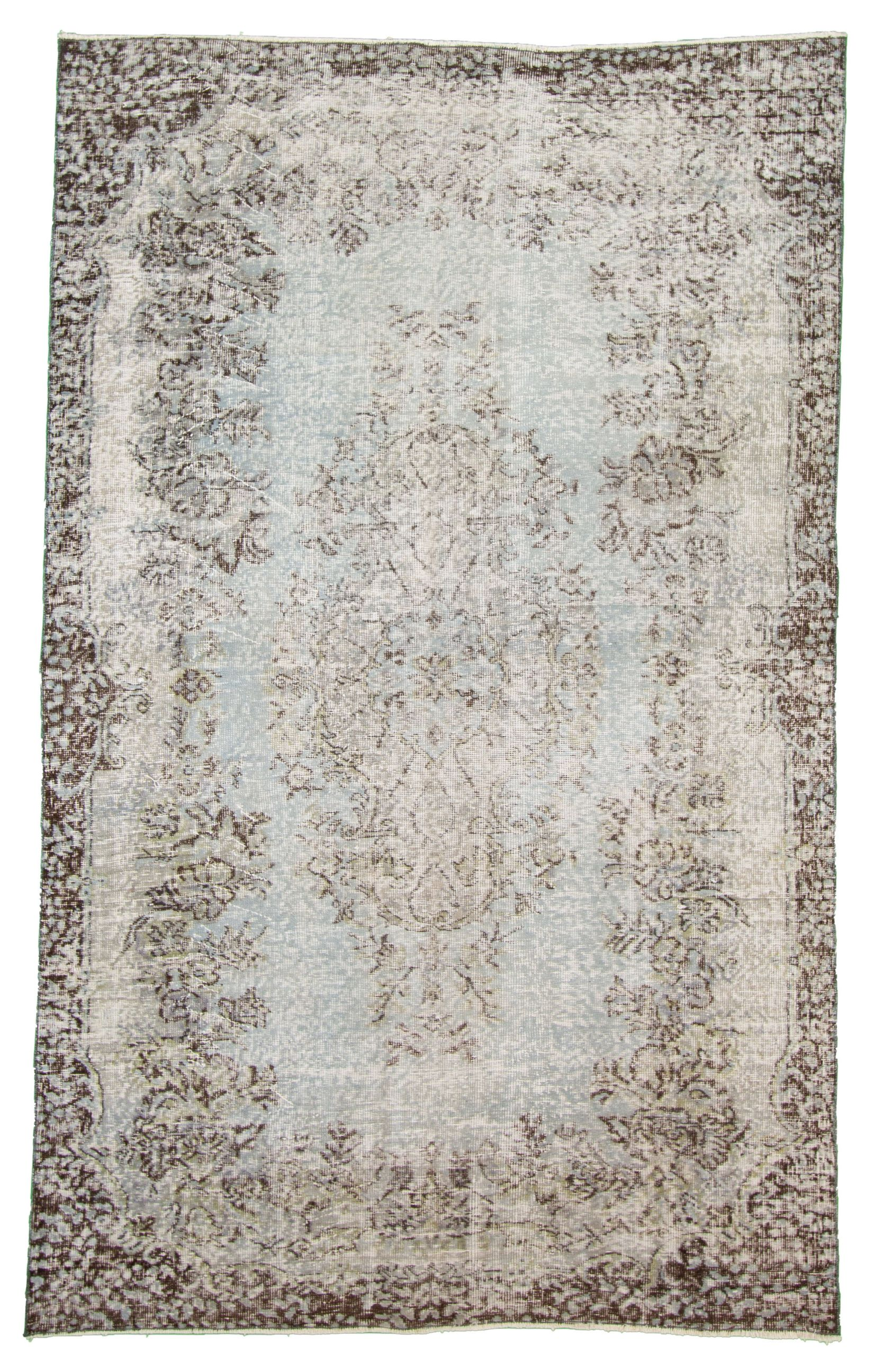 """Hand-knotted Antalya Vintage   Rug 5'7"""" x 8'8"""" Size: 5'7"""" x 8'8"""""""