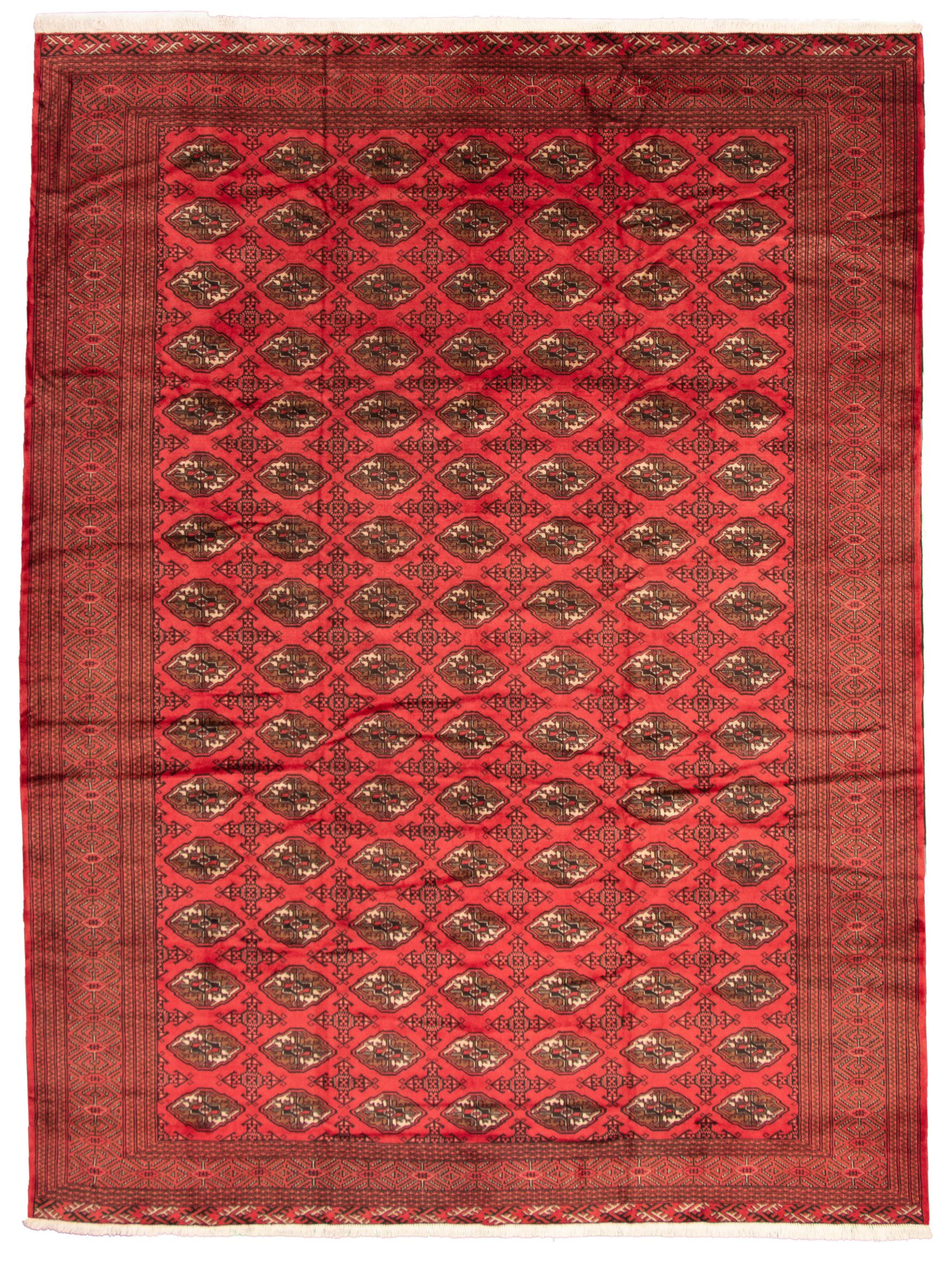"""Hand-knotted Khal Mohammadi Red Wool Rug 9'8"""" x 12'4"""" Size: 9'8"""" x 12'4"""""""