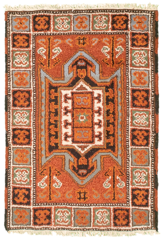 "Hand-knotted Royal Kazak Dark Copper Cotton Rug 2'1"" x 3'0"" (16) Size: 2'1"" x 3'0"""