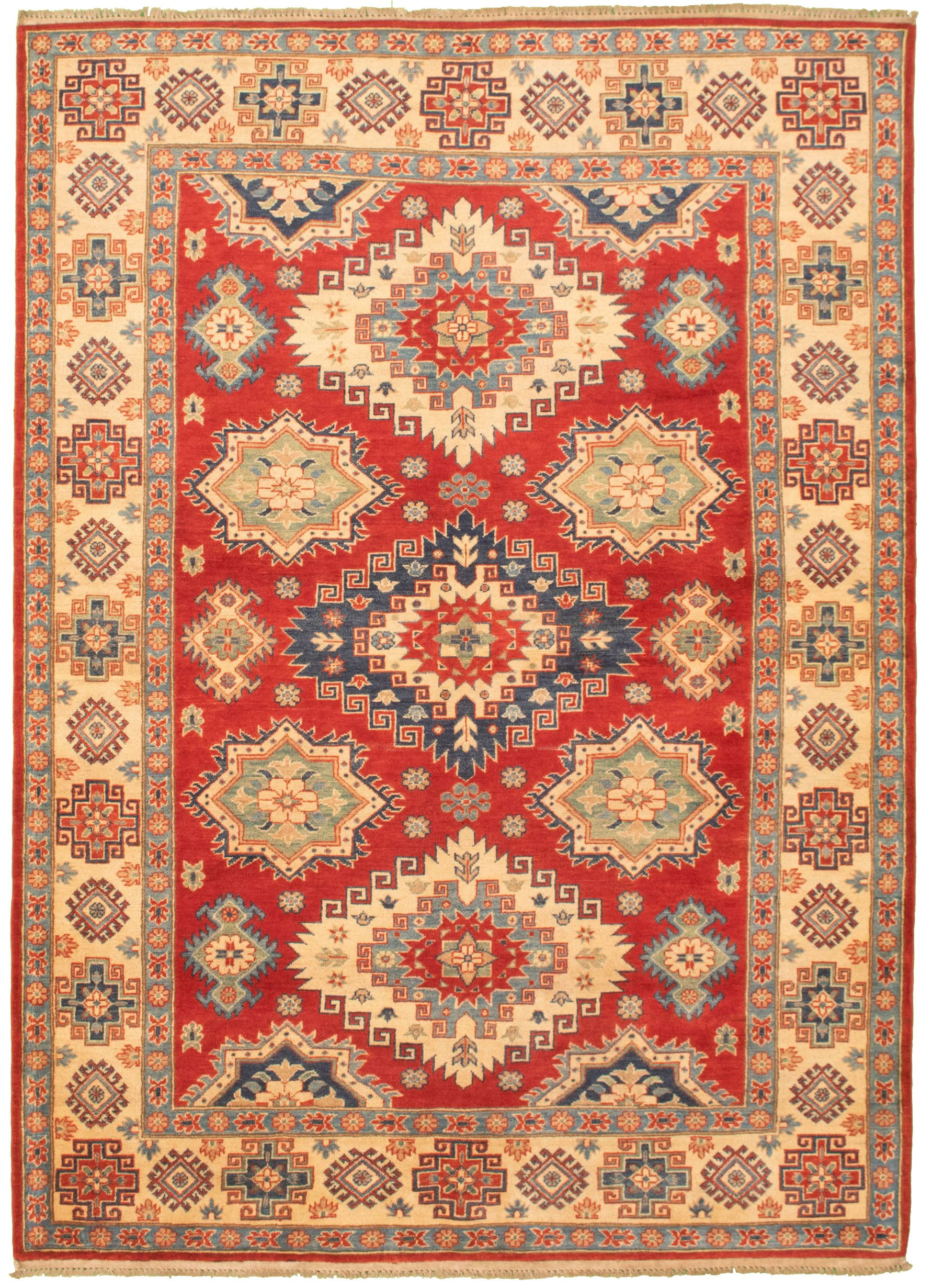 """Hand-knotted Finest Gazni Red Wool Rug 6'4"""" x 9'1"""" Size: 6'4"""" x 9'1"""""""
