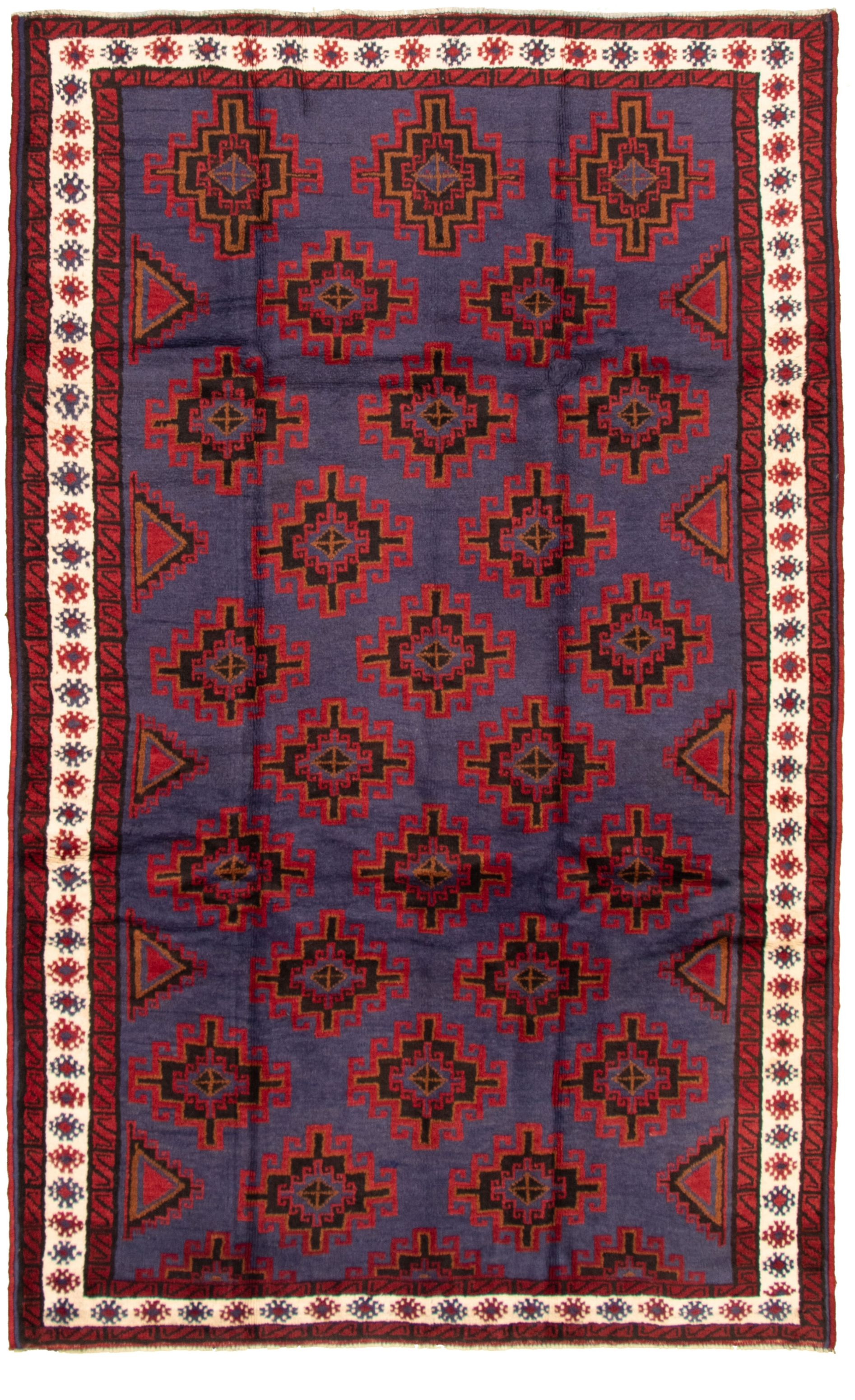 """Hand-knotted Akhjah Navy Blue Wool Rug 5'8"""" x 9'5"""" Size: 5'8"""" x 9'5"""""""