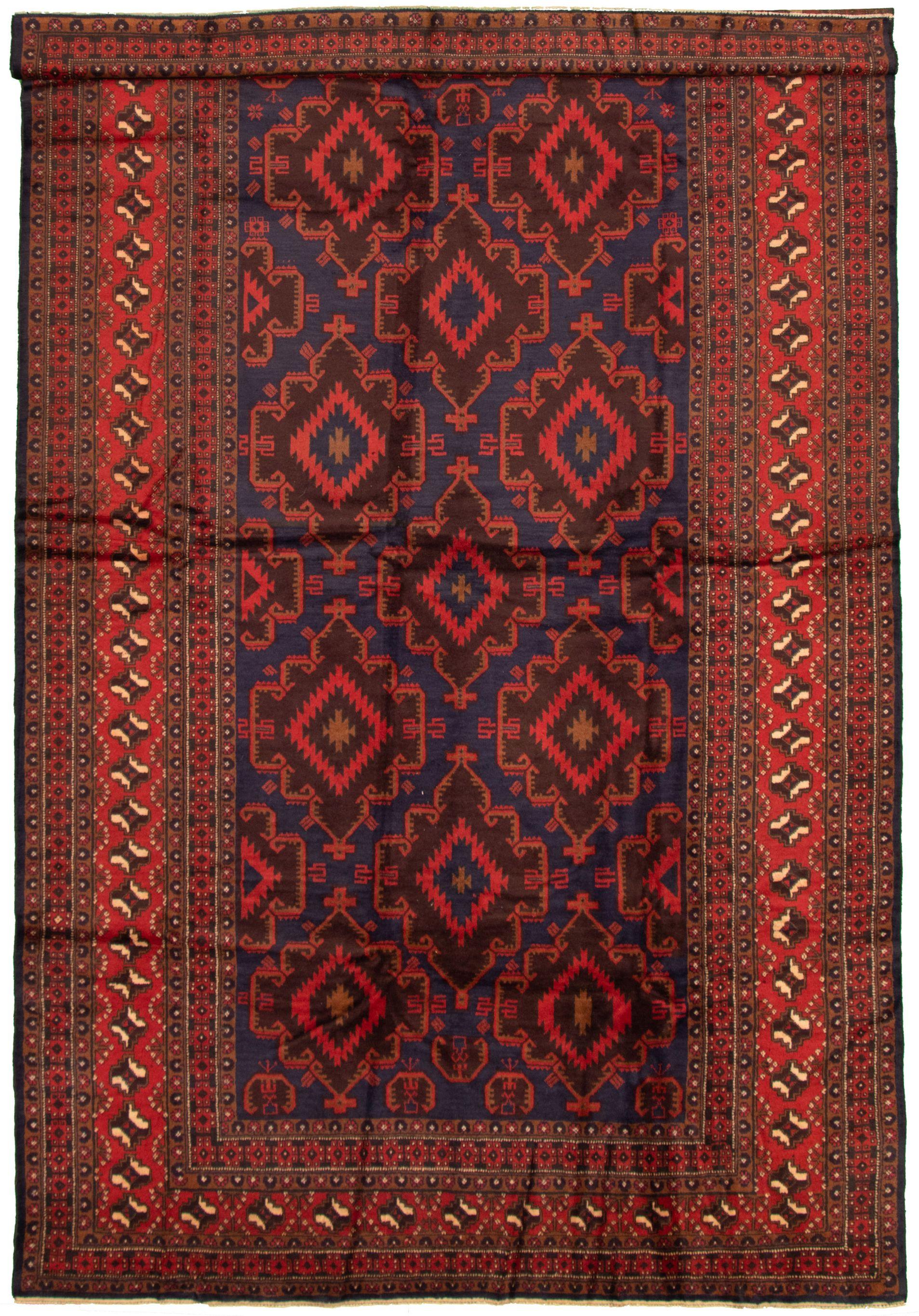 "Hand-knotted Teimani Dark Blue Wool Rug 7'9"" x 12'10"" Size: 7'9"" x 12'10"""