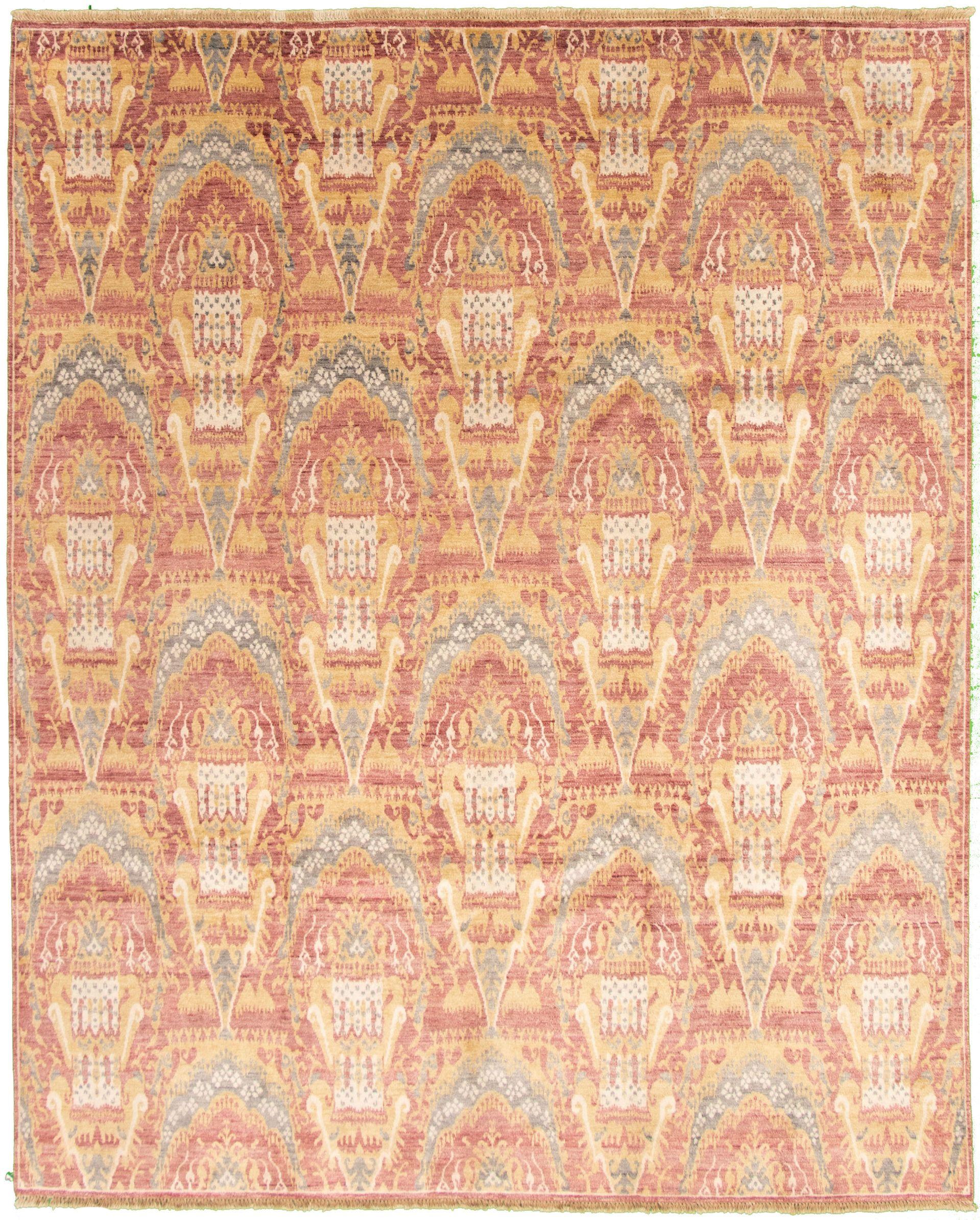 """Hand-knotted Shalimar Dark Red Art Silk Rug 8'0"""" x 10'0""""  Size: 8'0"""" x 10'0"""""""
