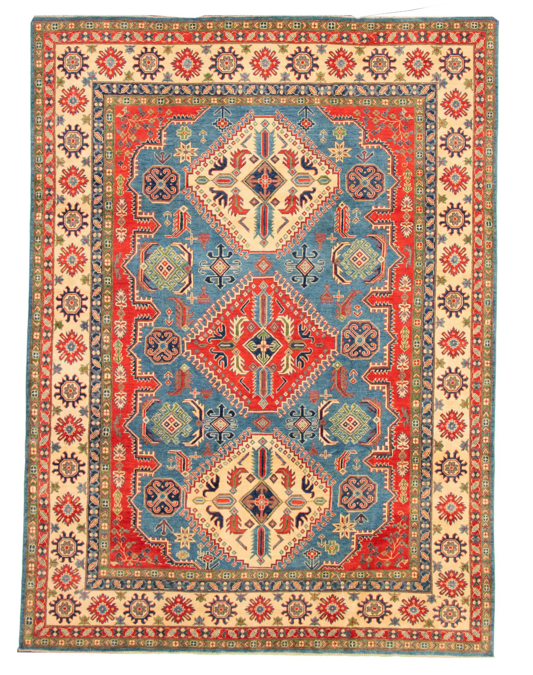 "Hand-knotted Finest Gazni Dark Blue Wool Rug 8'10"" x 12'0"" Size: 8'10"" x 12'0"""