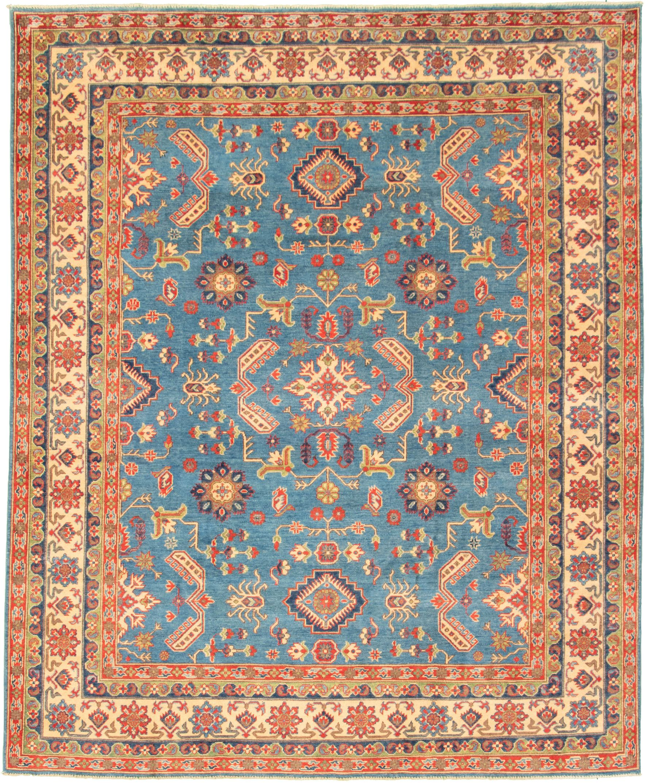 "Hand-knotted Finest Gazni Dark Blue Wool Rug 7'10"" x 9'10"" Size: 7'10"" x 9'10"""