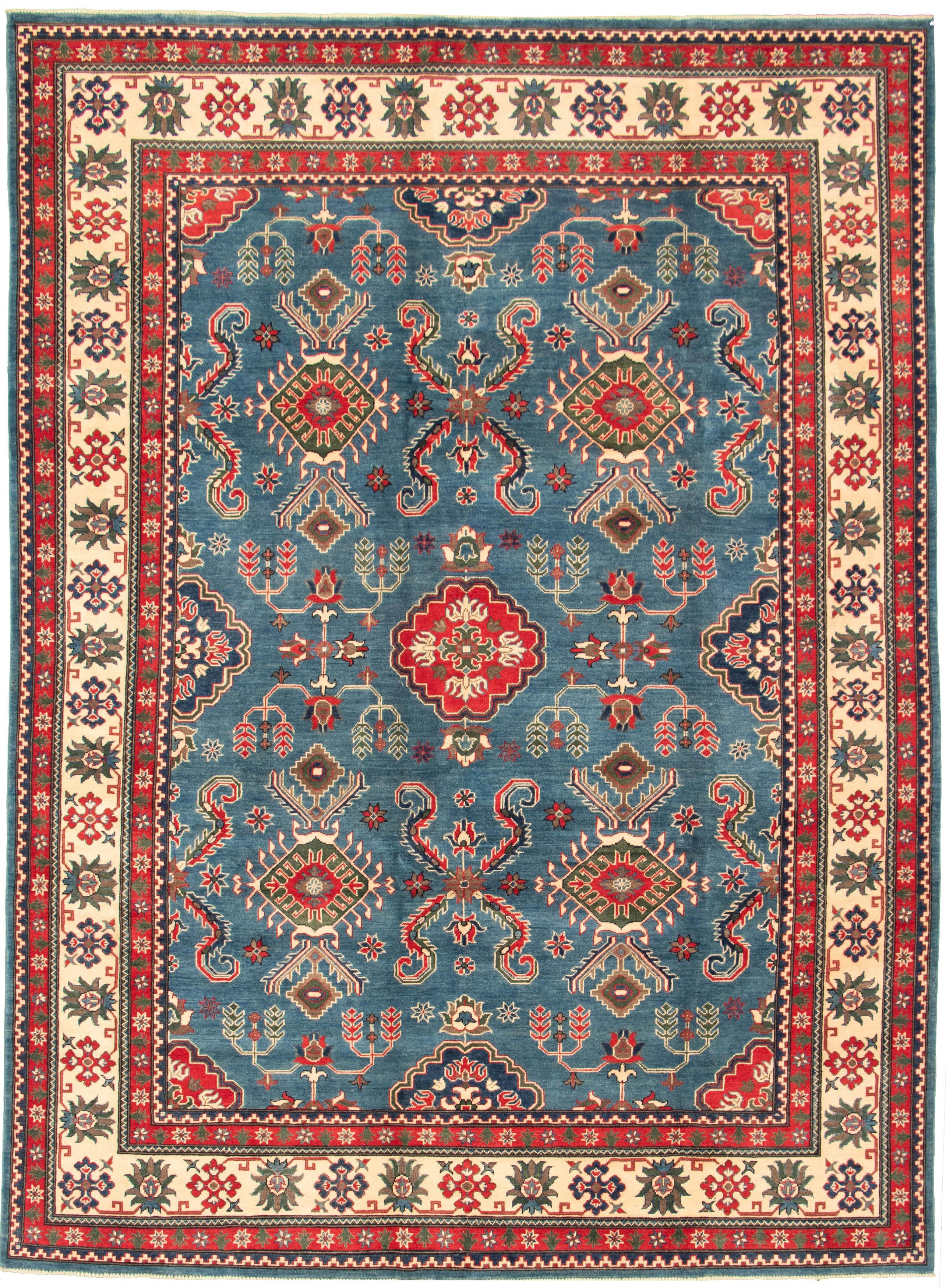 "Hand-knotted Finest Gazni Dark Blue Wool Rug 8'8"" x 11'10"" Size: 8'8"" x 11'10"""