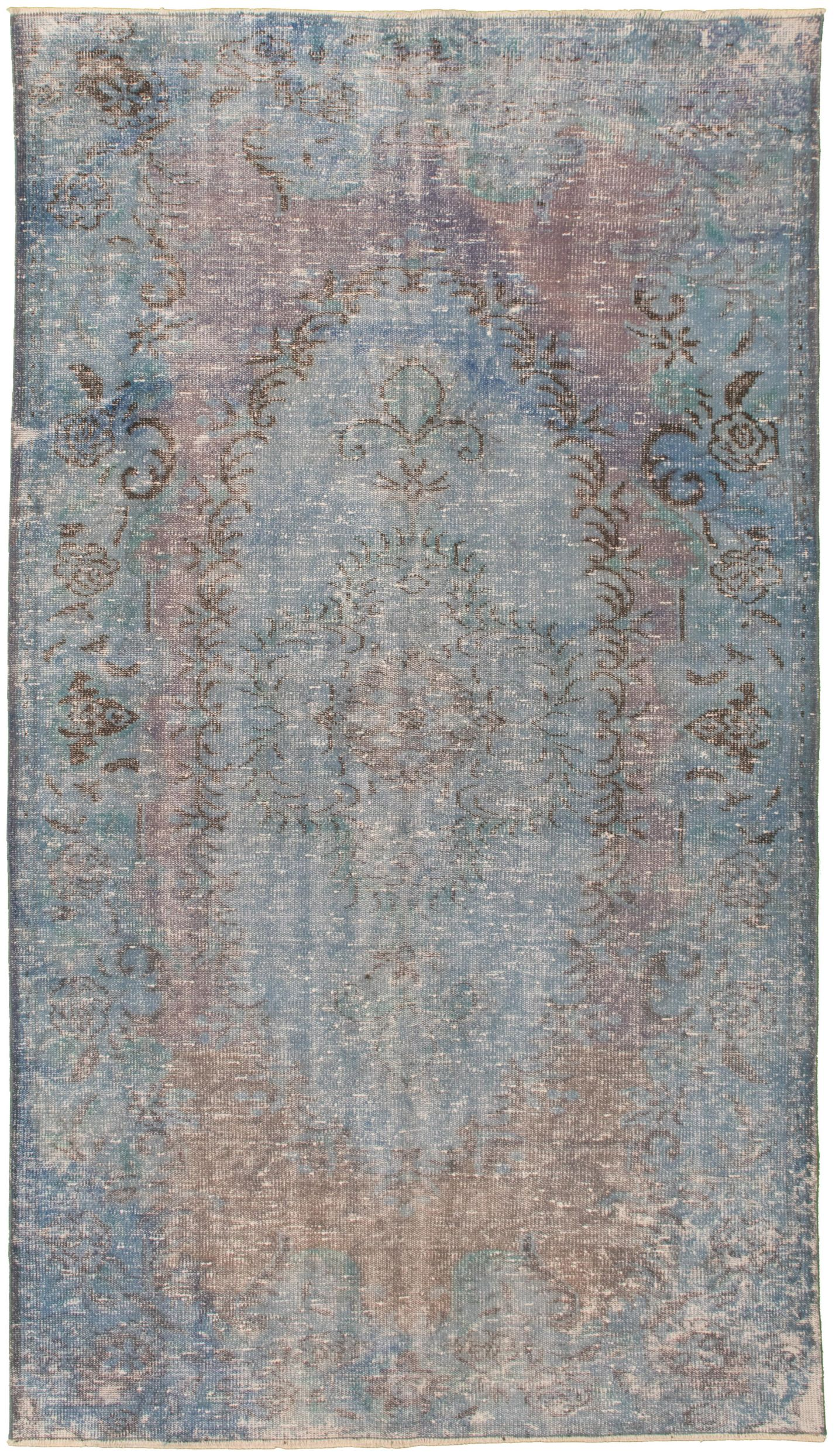 """Hand-knotted Color Transition Blue Wool Rug 5'2"""" x 9'2"""" Size: 5'2"""" x 9'2"""""""