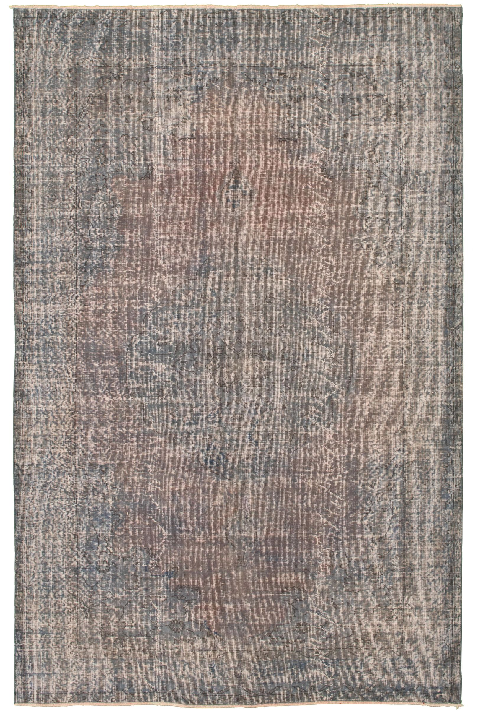 """Hand-knotted Color Transition Blue Wool Rug 5'8"""" x 9'1"""" Size: 5'8"""" x 9'1"""""""