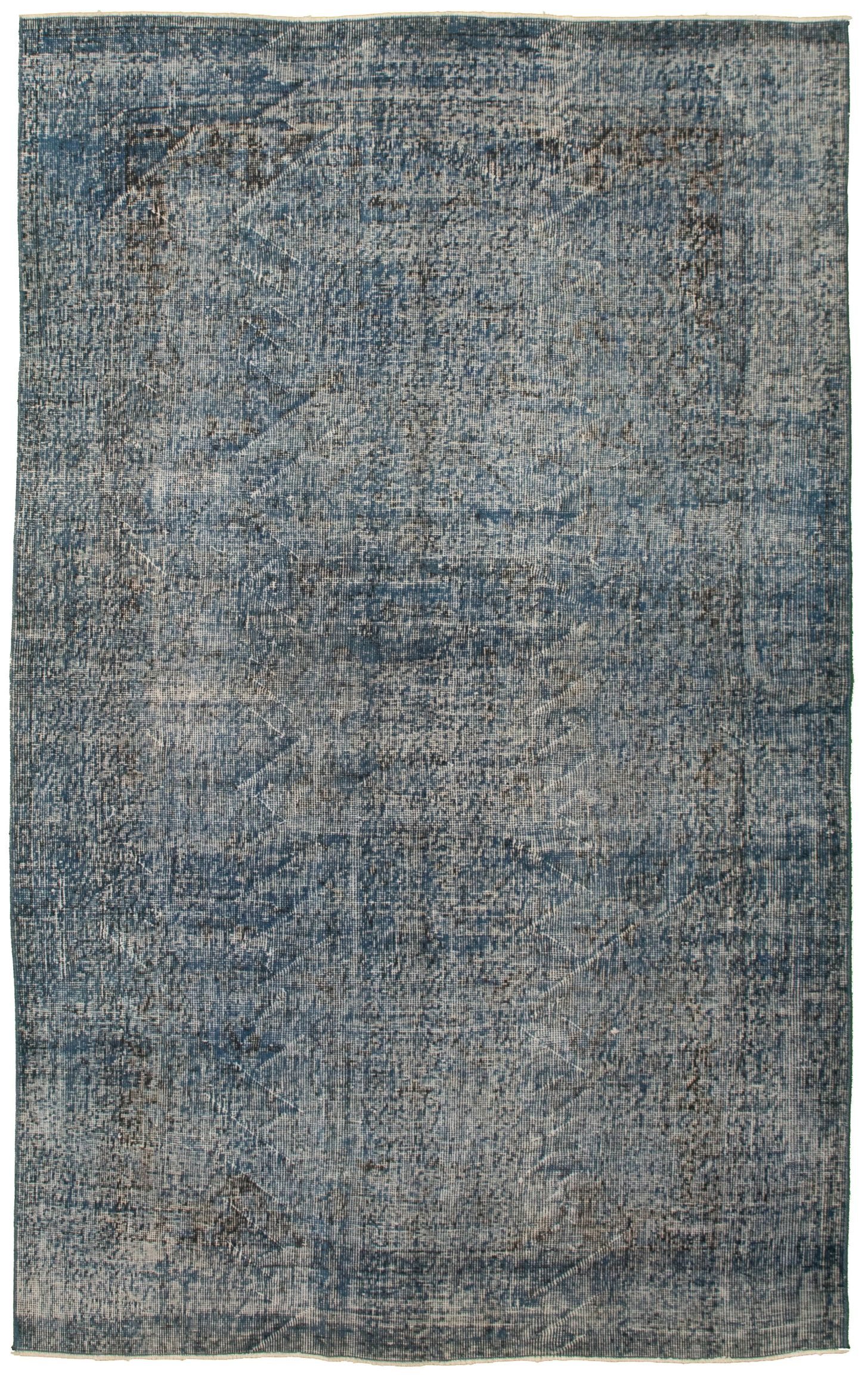 """Hand-knotted Color Transition Blue Wool Rug 5'2"""" x 8'7"""" Size: 5'2"""" x 8'7"""""""