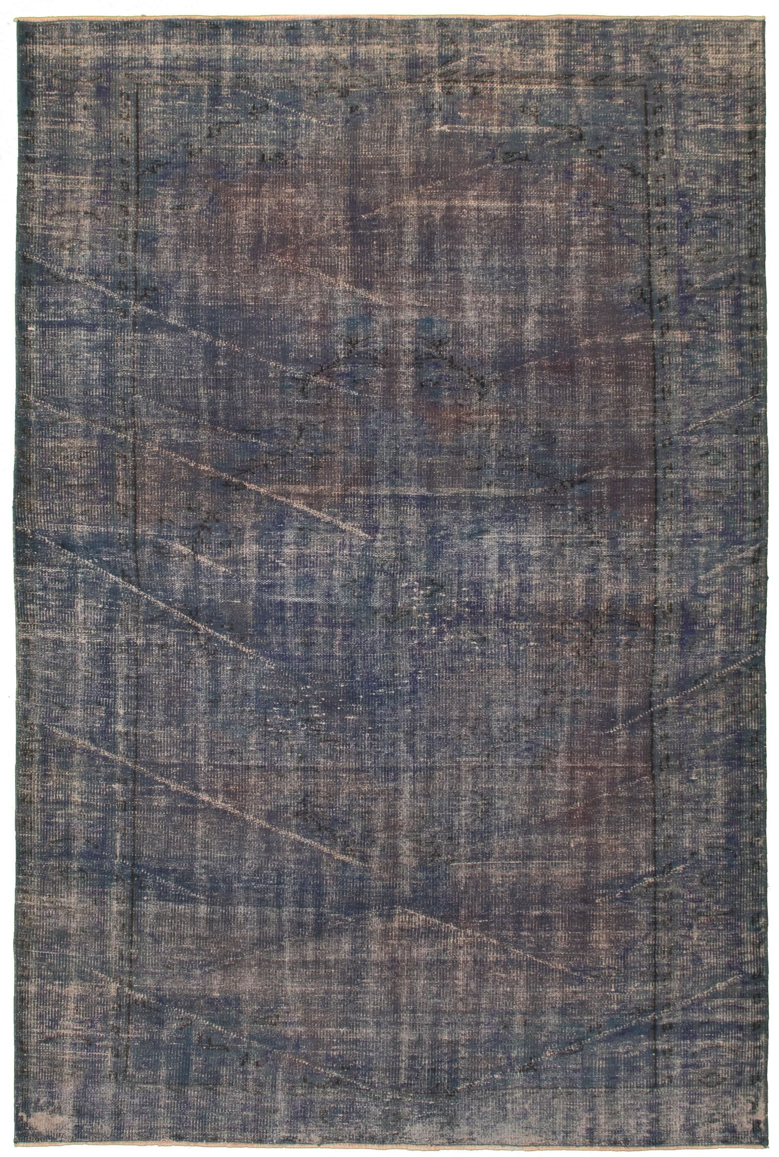 """Hand-knotted Color Transition Blue Wool Rug 6'0"""" x 9'3""""  Size: 6'0"""" x 9'3"""""""