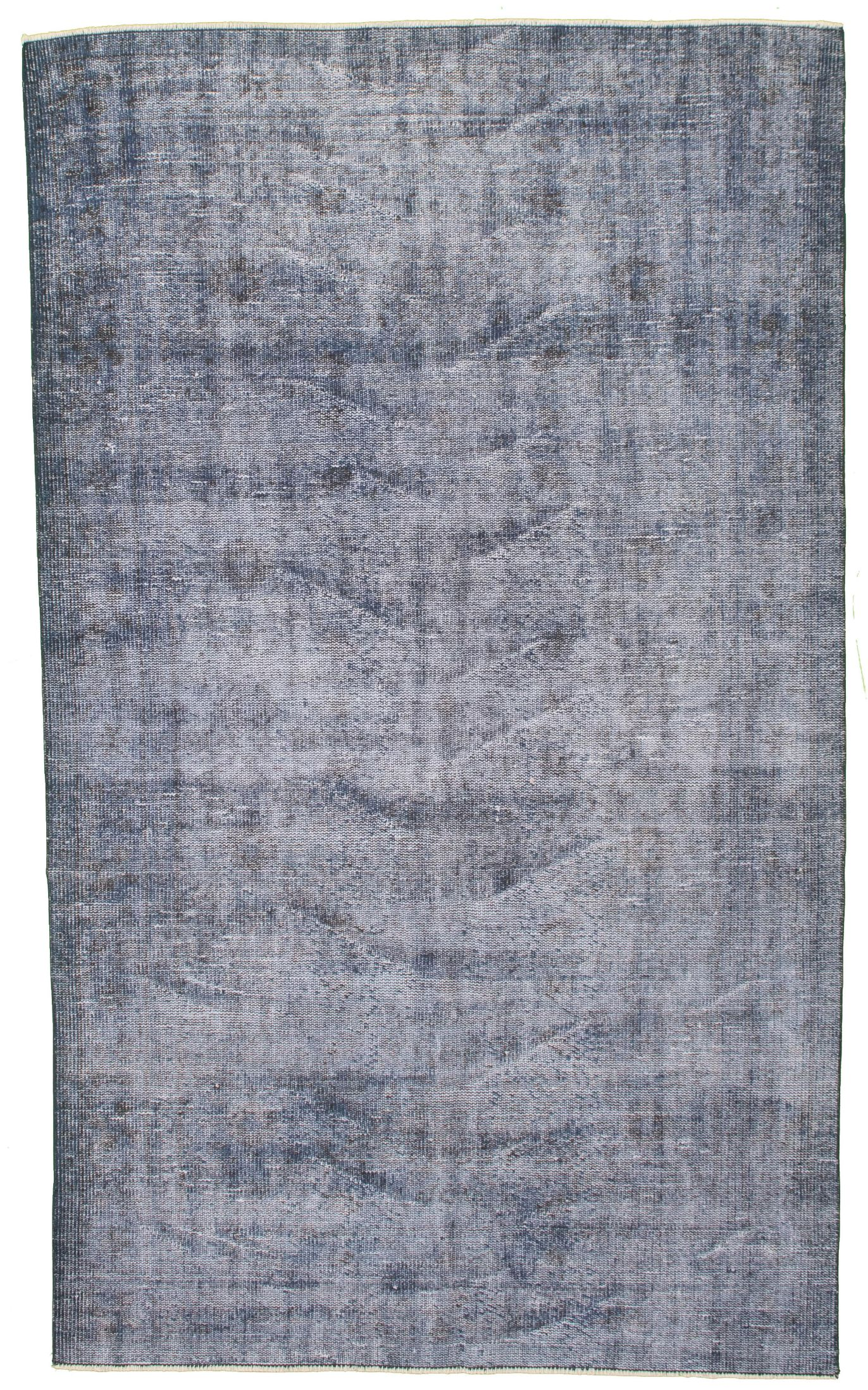 """Hand-knotted Color Transition Blue Wool Rug 4'10"""" x 8'3"""" Size: 4'10"""" x 8'3"""""""