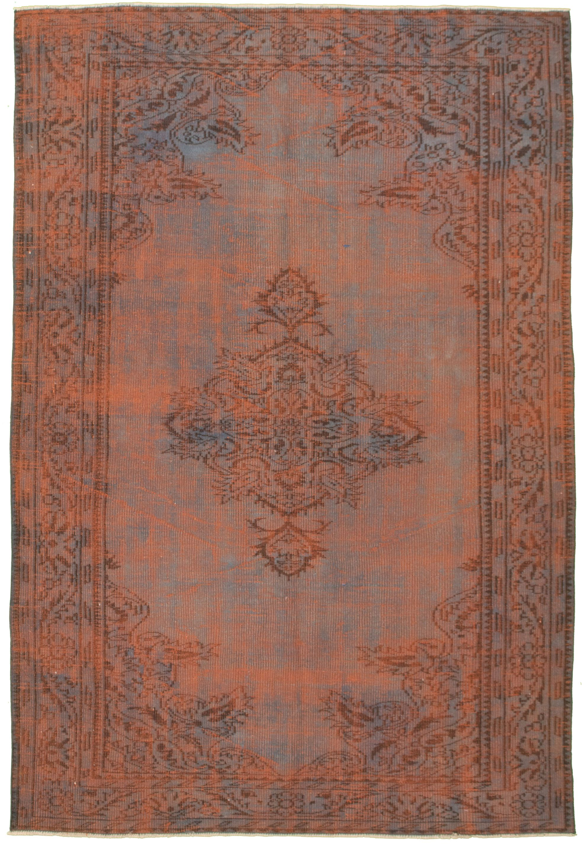 """Hand-knotted Color Transition Orange Wool Rug 6'0"""" x 8'10"""" Size: 6'0"""" x 8'10"""""""