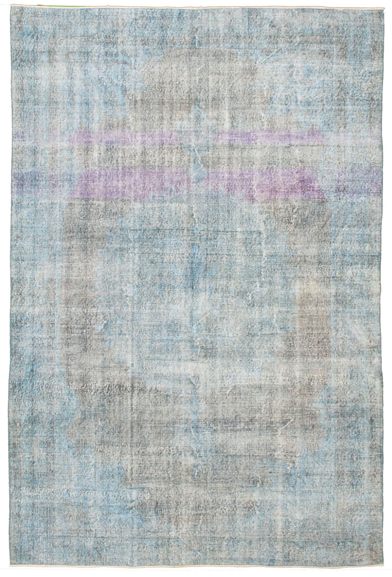 """Hand-knotted Color Transition Blue Wool Rug 6'7"""" x 9'10""""  Size: 6'7"""" x 9'11"""""""