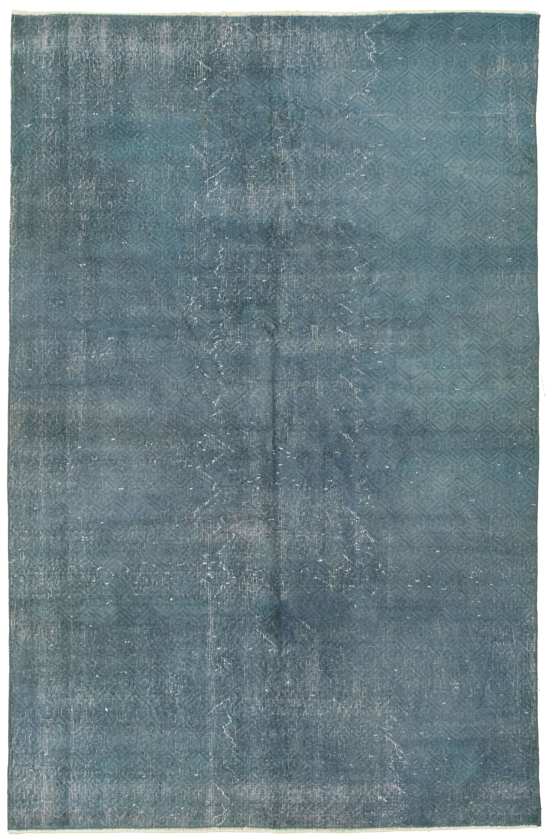 """Hand-knotted Color Transition Navy Blue Wool Rug 4'11"""" x 7'10"""" Size: 4'11"""" x 7'10"""""""