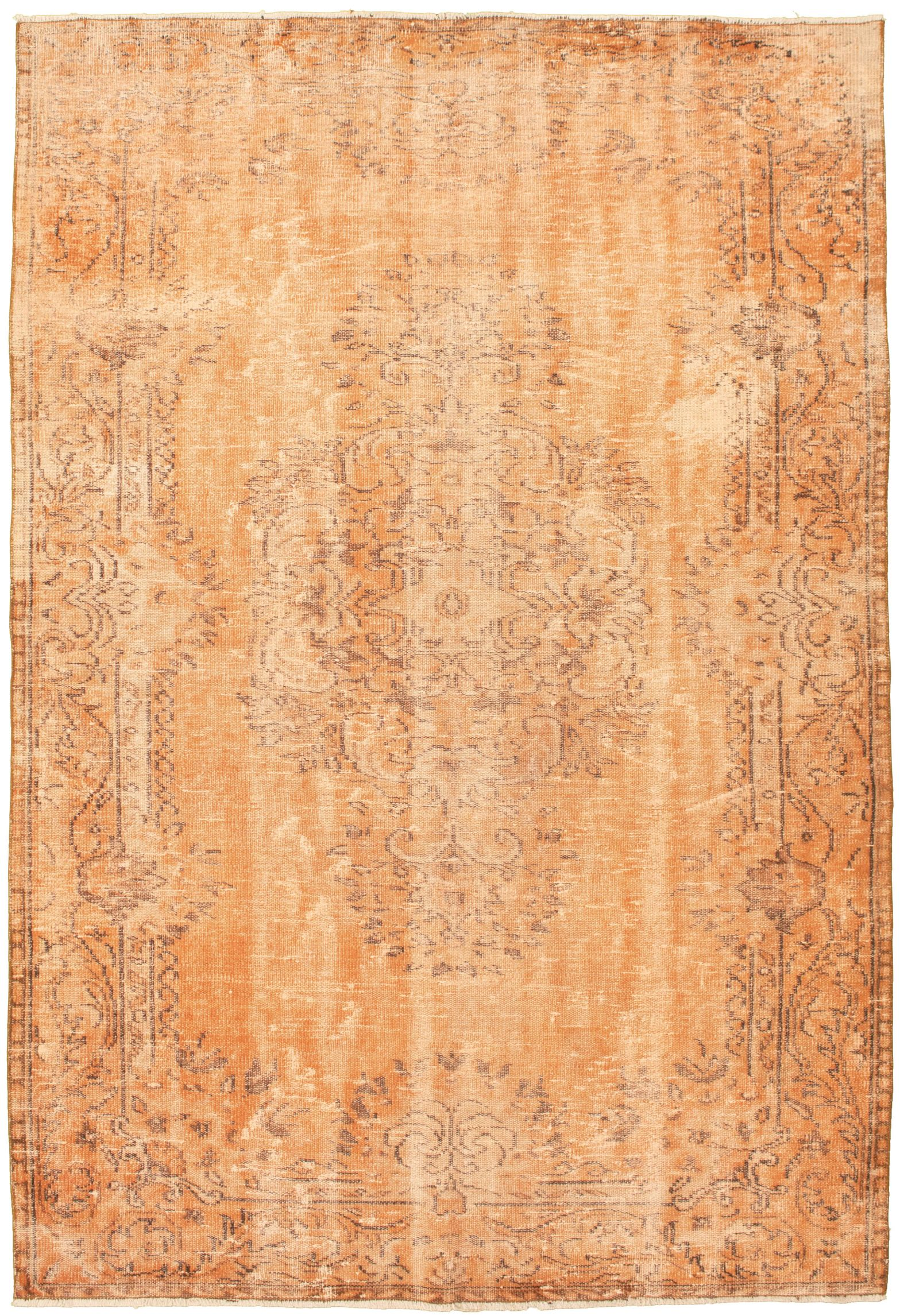 """Hand-knotted Color Transition Orange Wool Rug 5'9"""" x 9'2"""" Size: 5'9"""" x 9'2"""""""