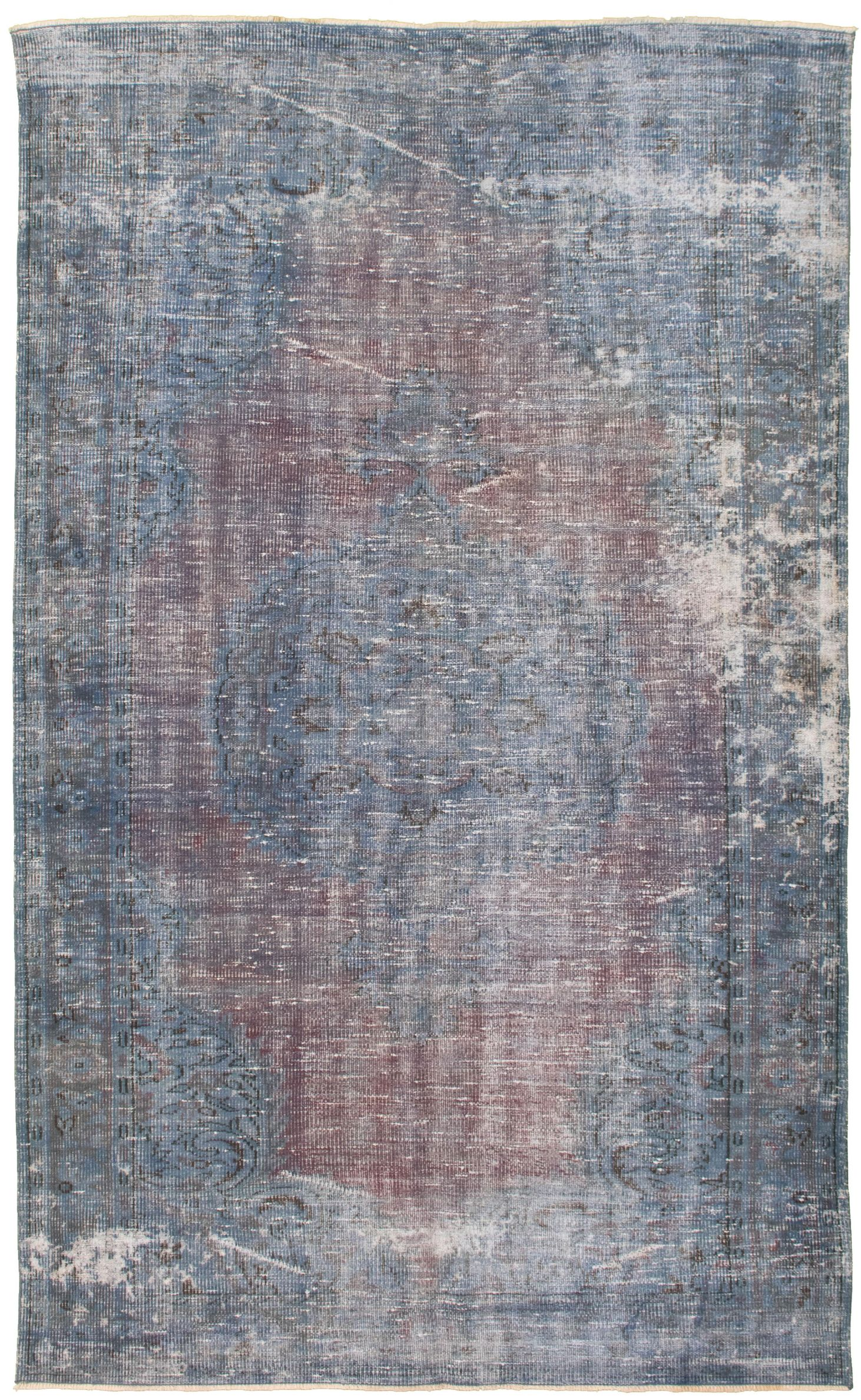 """Hand-knotted Color Transition Blue Wool Rug 5'8"""" x 9'7"""" Size: 5'8"""" x 9'7"""""""